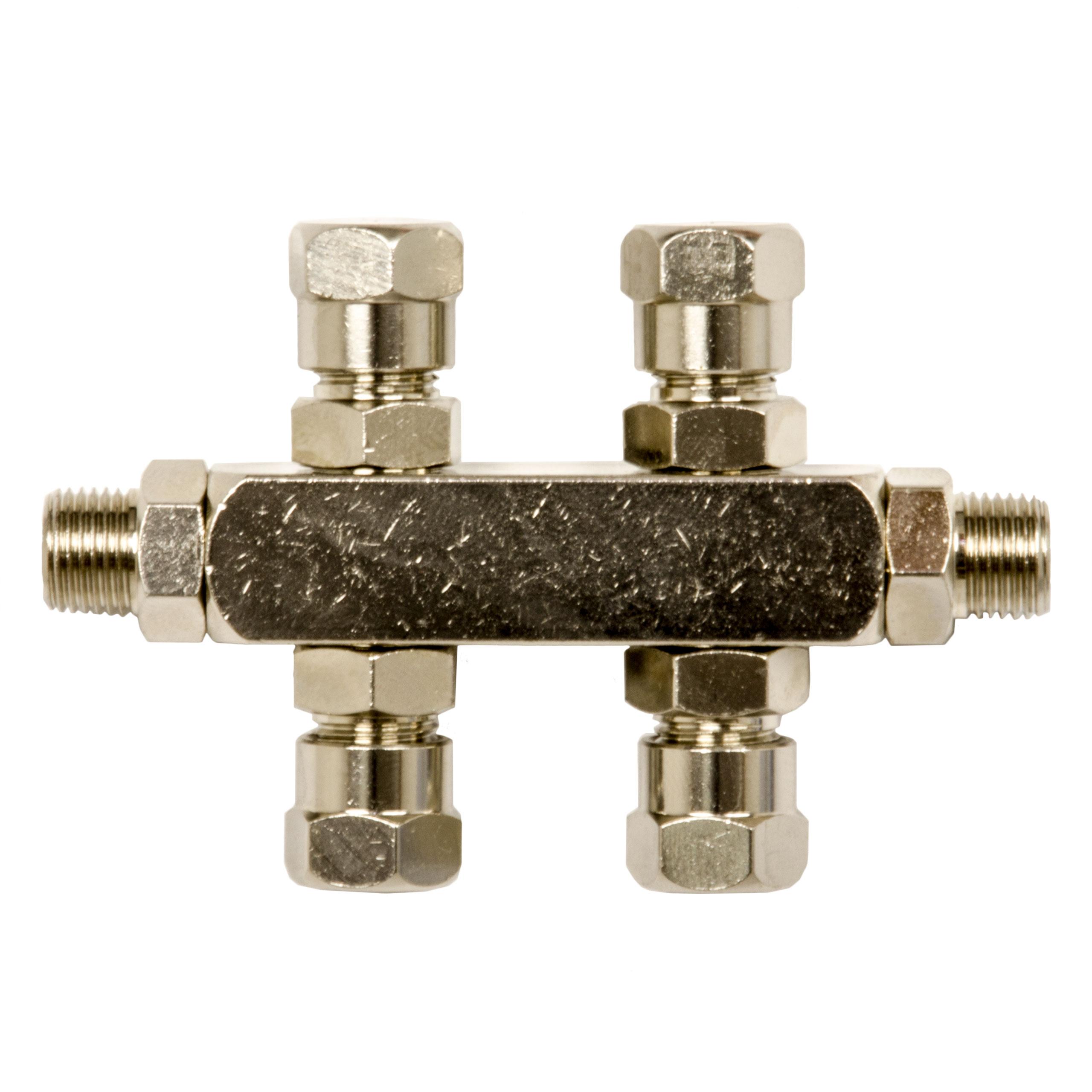 5-fach Luftverteiler ( Leiste ) 162535 aus Metall