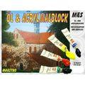 Öl -und Acrylmalblock 30 x 40cm 12 Bl. 230g/m² MES 1202