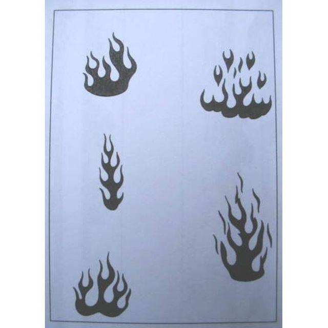 Schablone, Flammen I 262 517