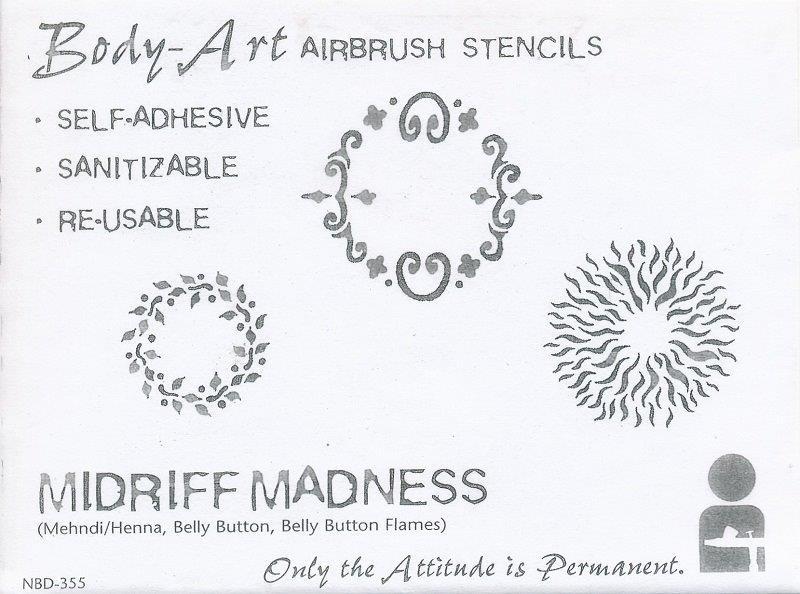 IWATA Body Art Schablone Midriff Madness VIMNBD355