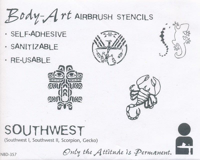 IWATA Body Art Schablone Southwest VIMNBD357