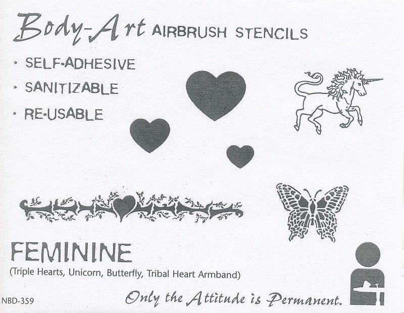 IWATA Body Art Schablone Feminine VIMNBD359