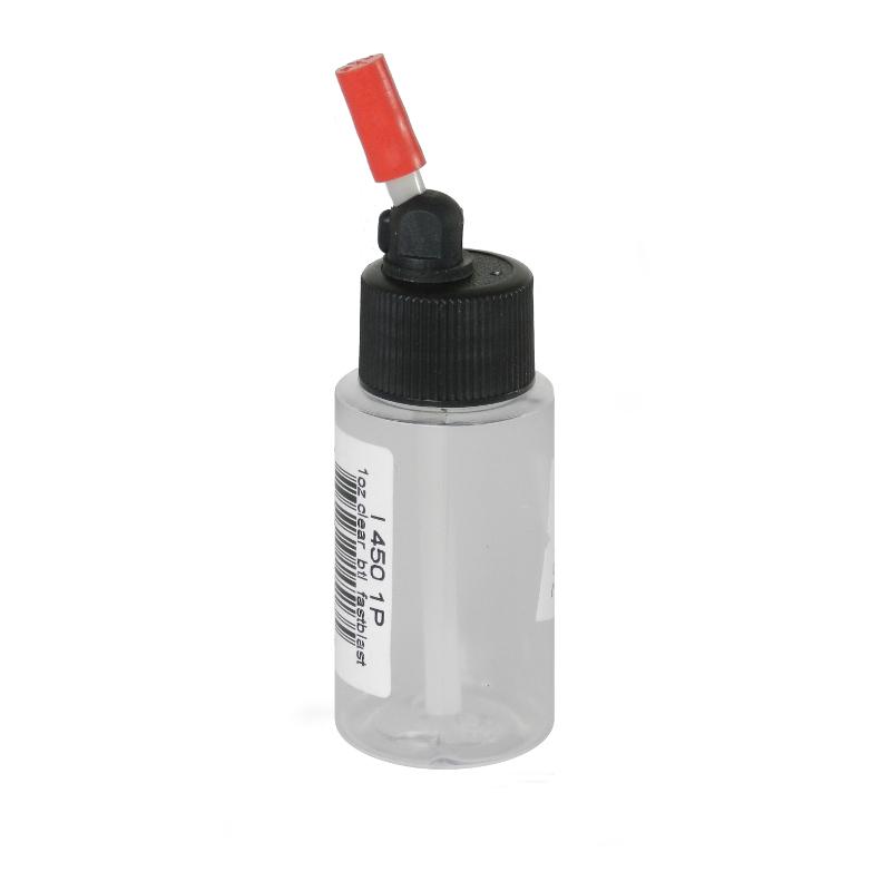 IWATA Flasche klar 1 oz 28ml mit Kunststoffanschluss ( VIM4501P )