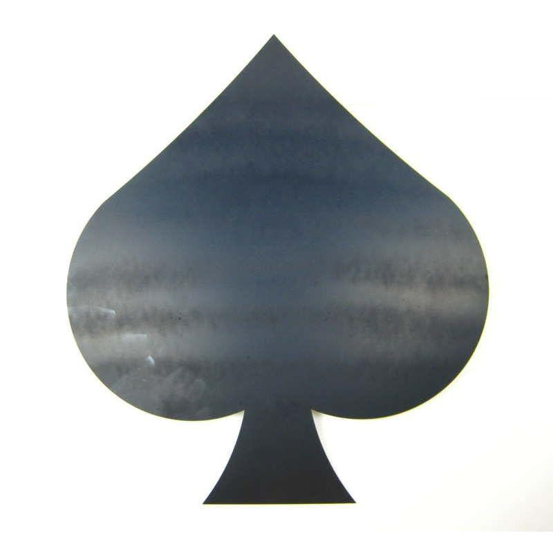 Pik, einseitig mattschwarz lackiert 170204 Stahlblech Metallgrund