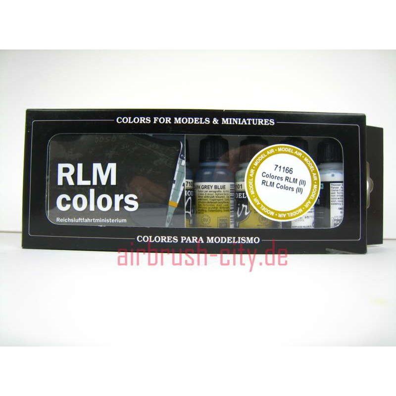 Model Air Air RLM 2 SET 100 406 Airbrush Farben Set ***
