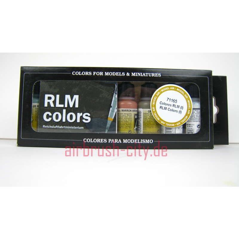 Model Air Air RLM 1 SET 100 405 Airbrush Farben Set ***