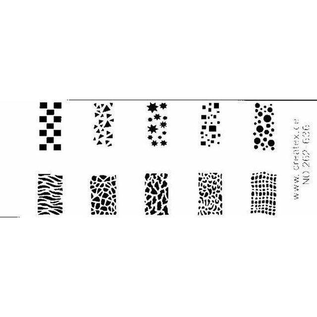 262 636 die Neuen von Createx, Airbrush-Schablone