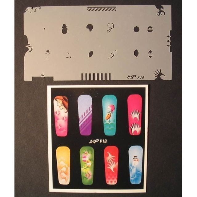 NailArt  Airbrush-Schablone MPF18