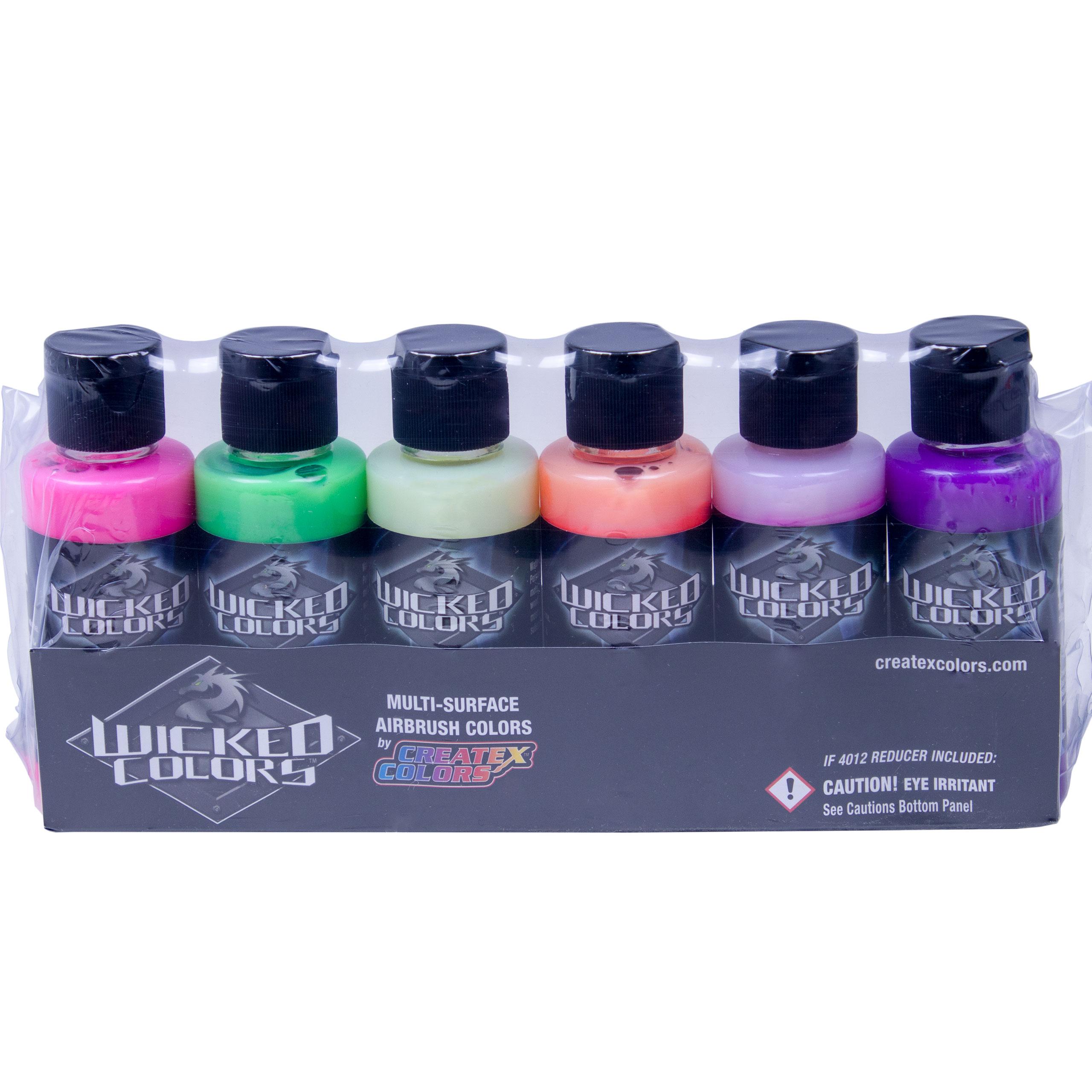 Createx Wicked Set 6 x 60ml fluoreszierend 116103 Airbrushfarbe