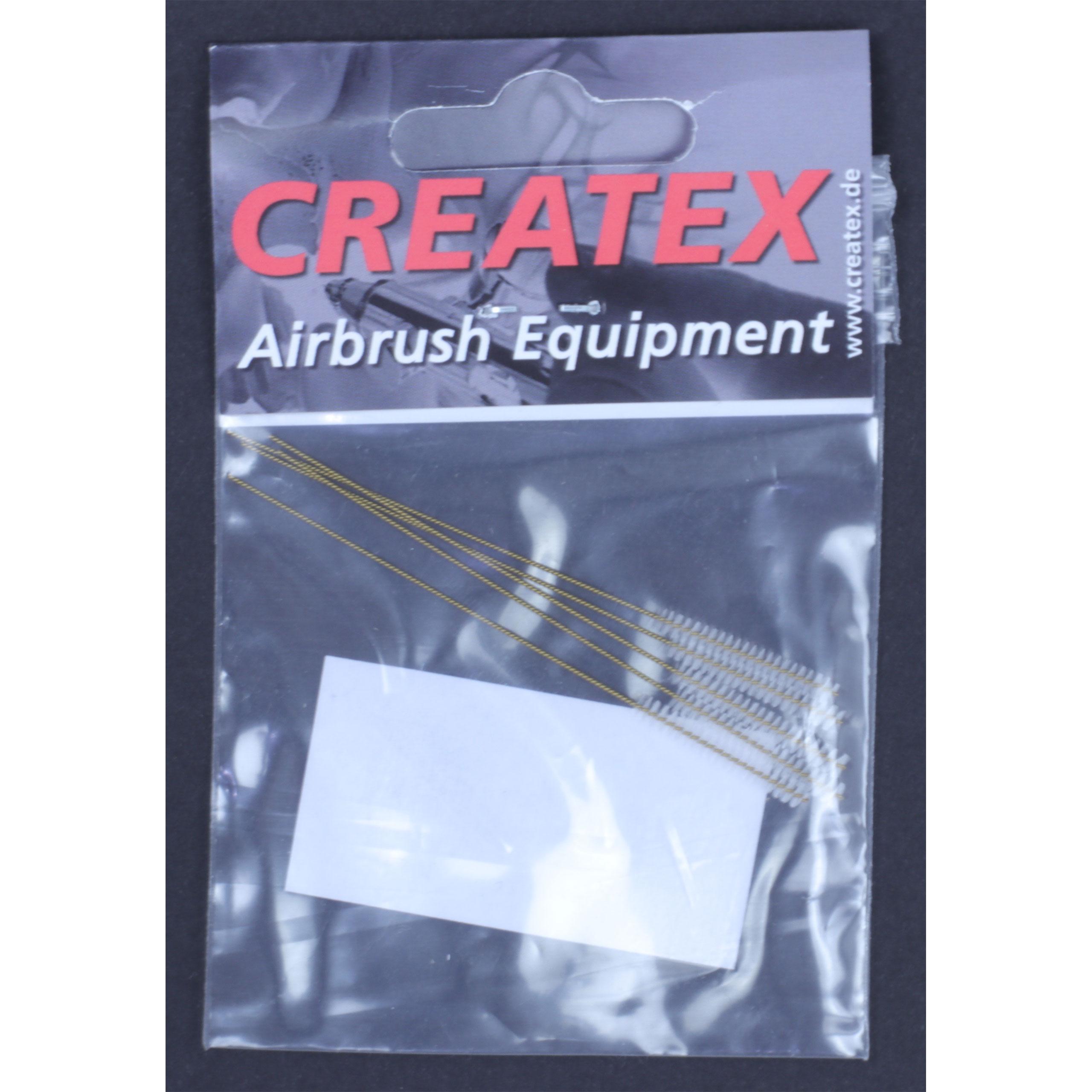 Createx, 5 Airbrush-Reinigungsbürsten gold 3mm 300 663