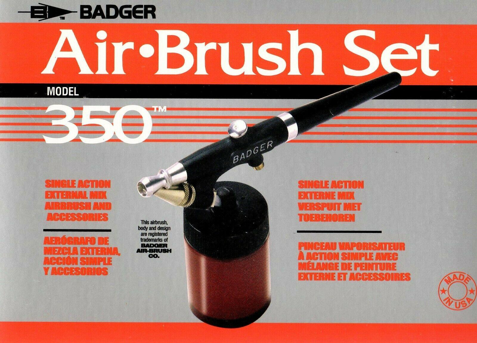Badger 350-1H Spray Gun im Karton Airbrush Pistole 600 059