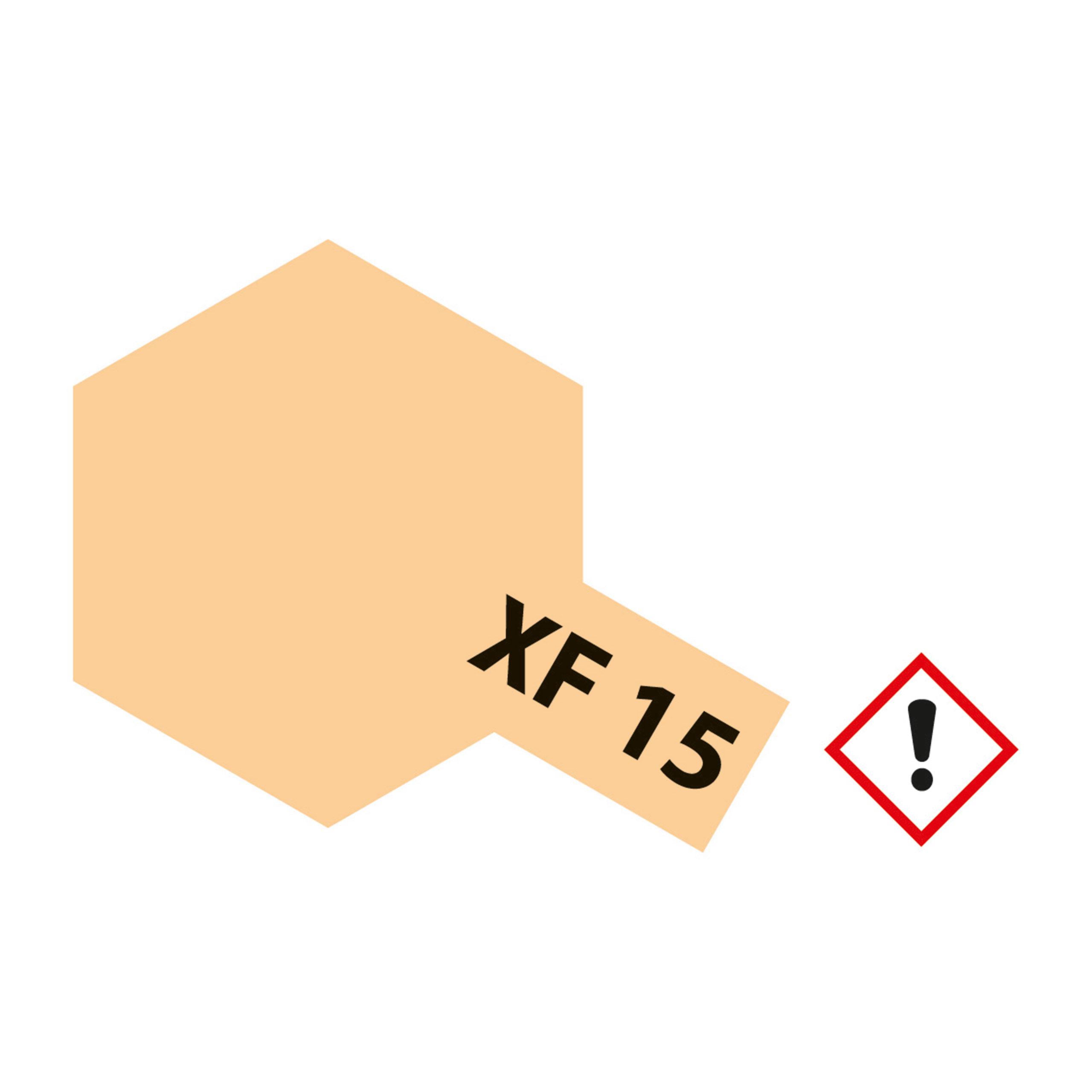 XF-15 Fleischfarben matt - 23ml Acrylstreichfarbe wasserloeslich Tamiya 300081315