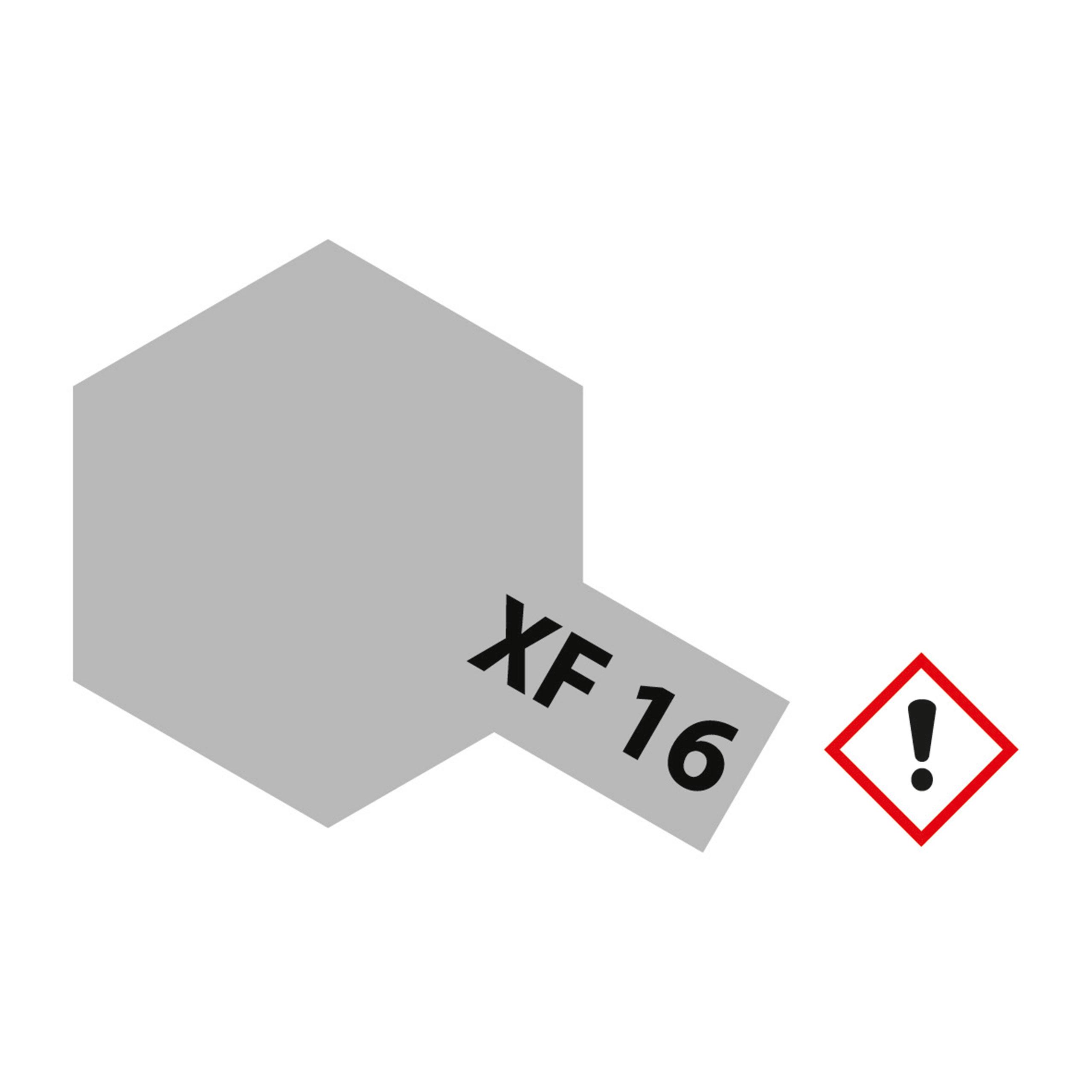 XF-16 Aluminium matt - 23ml Acrylstreichfarbe wasserloeslich Tamiya 300081316