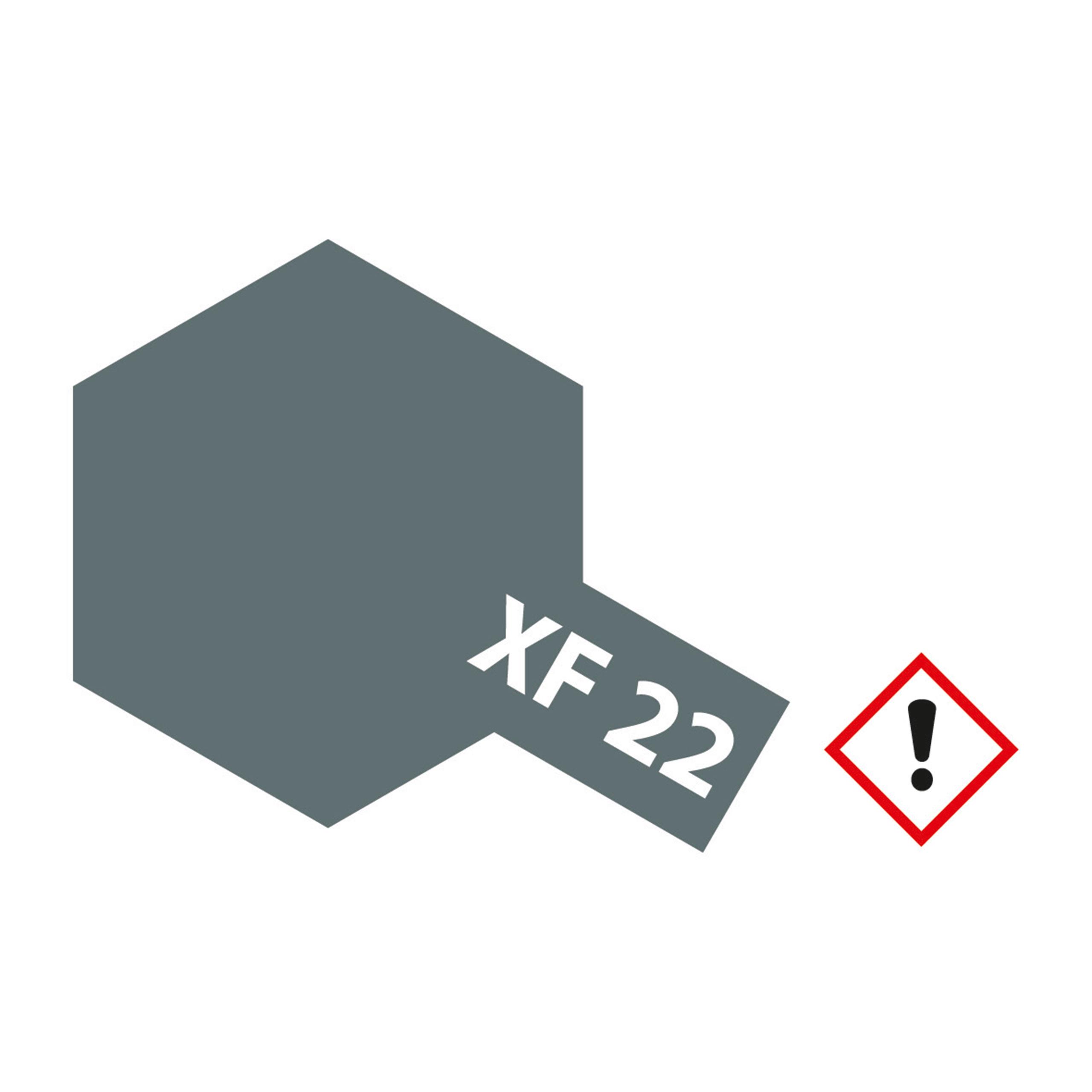 XF-22 Royal Marine Grau matt - 23ml Acrylstreichfarbe wasserloeslich Tamiya 300081322