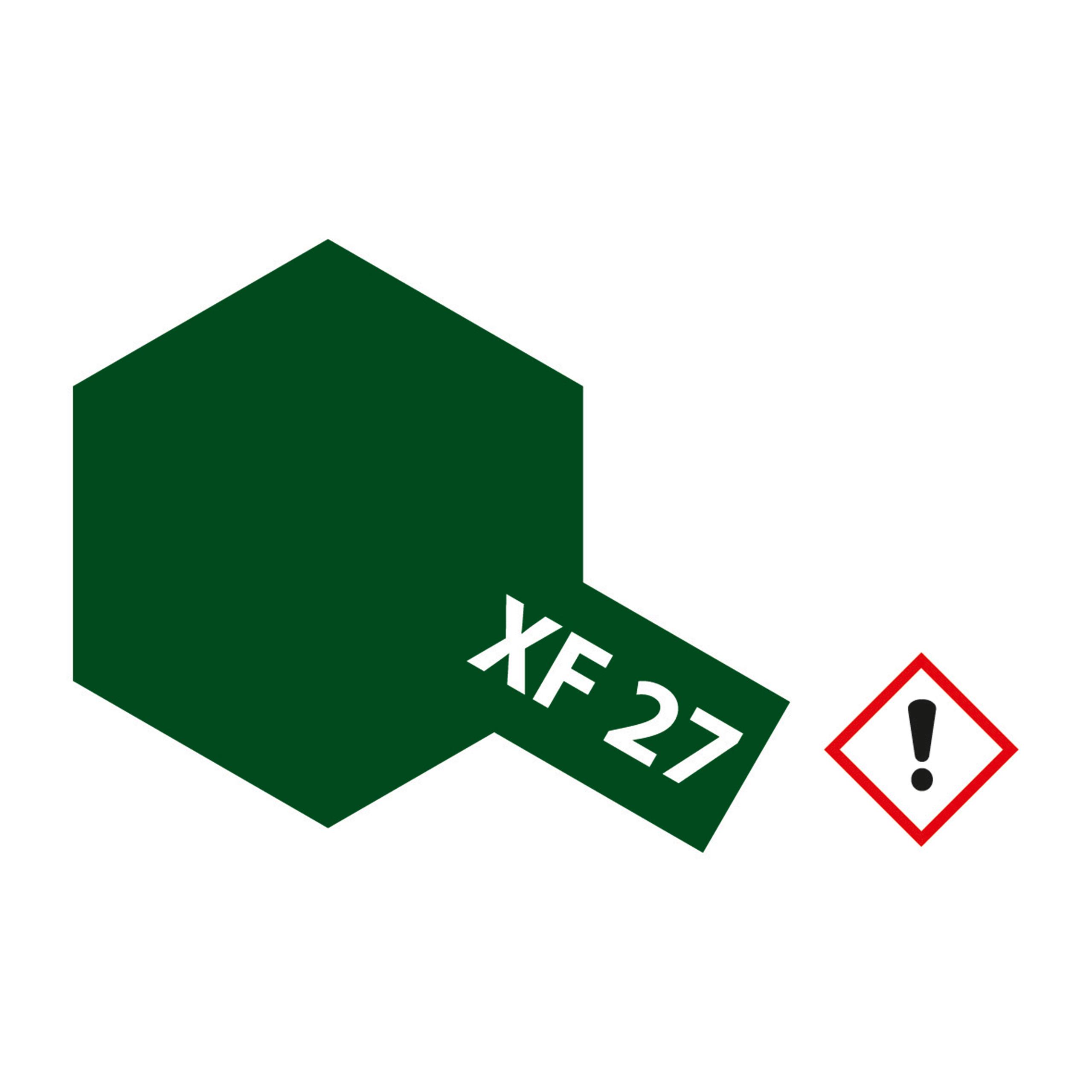 XF-27 Schwarz Gruen matt - 23ml Acrylstreichfarbe wasserloeslich Tamiya 300081327
