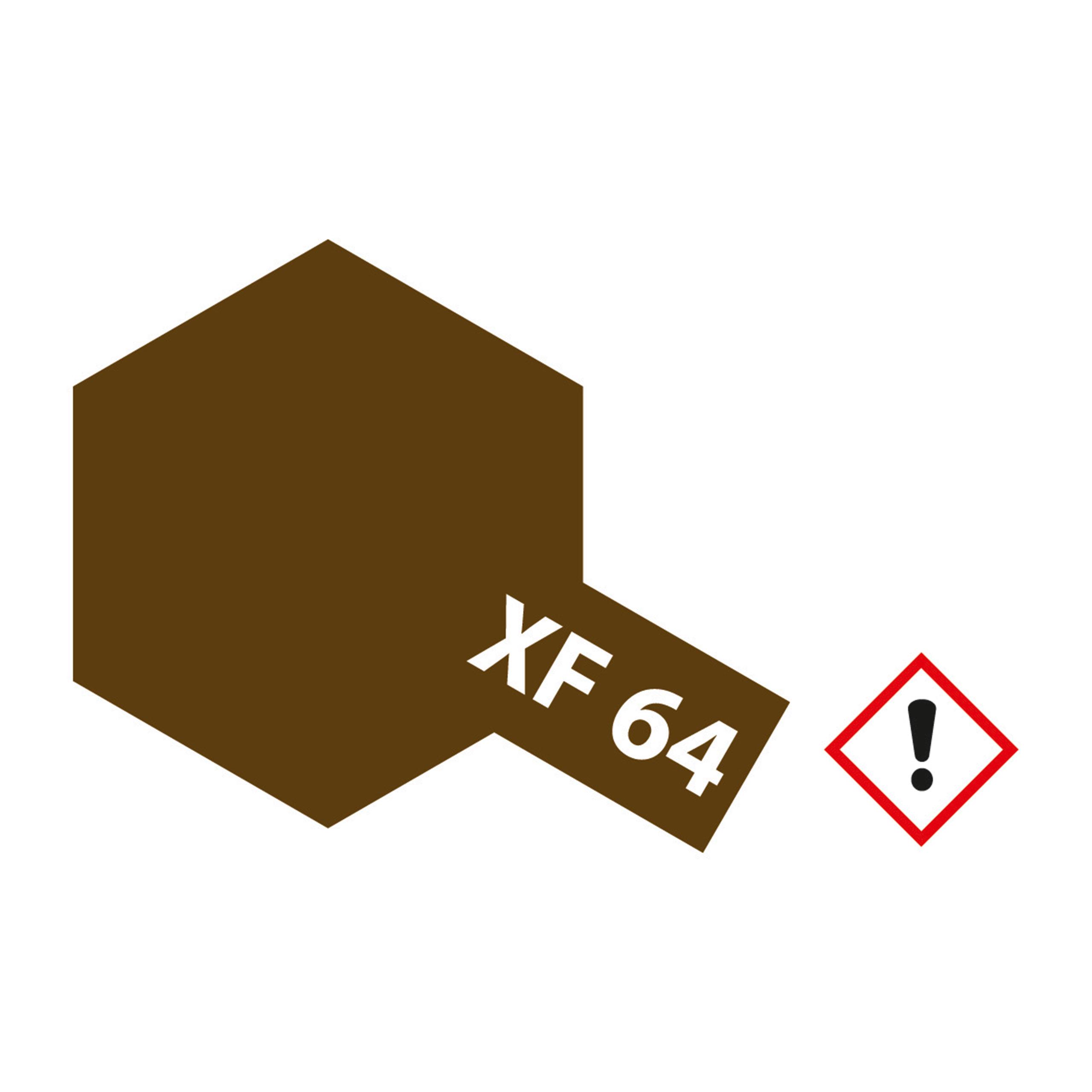XF-64 Rot Braun matt - 23ml Acrylstreichfarbe wasserloeslich Tamiya 300081364