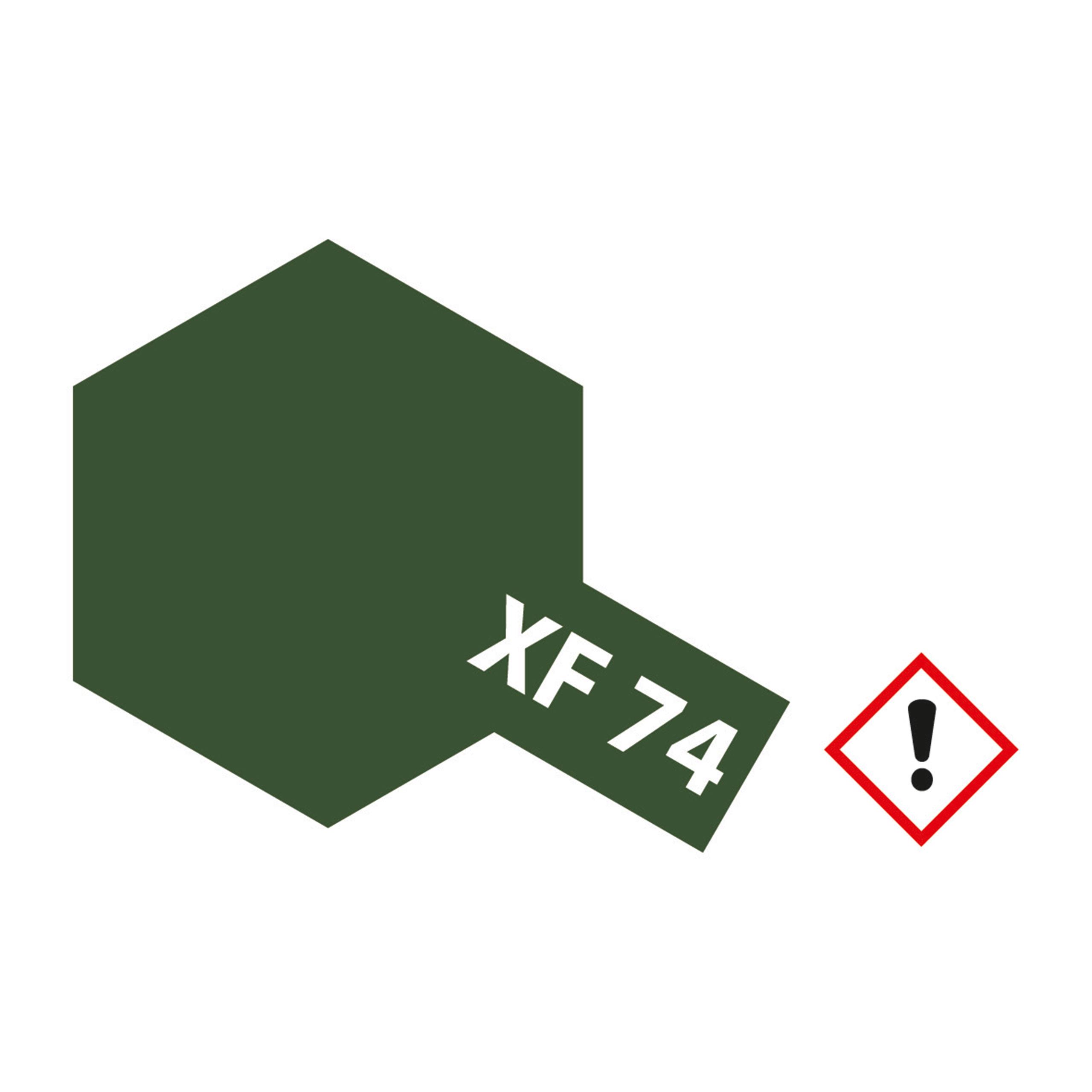XF-74 Braunoliv Oliv Drab matt - 10ml Acrylstreichfarbe wasserloeslich Tamiya 300081774