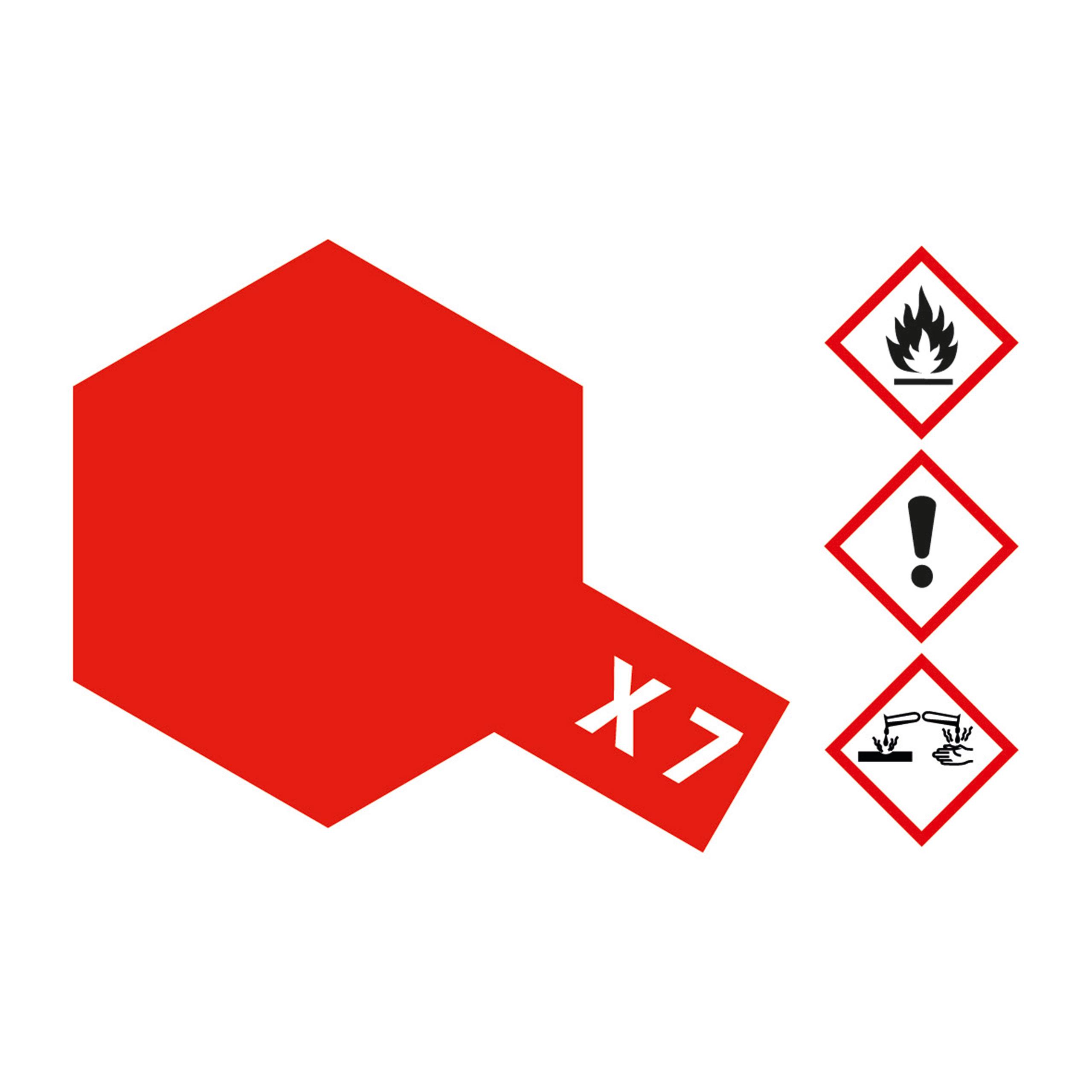 X-7 Rot glaenzend - 23ml Acrylstreichfarbe wasserlöslich Tamiya 300081007