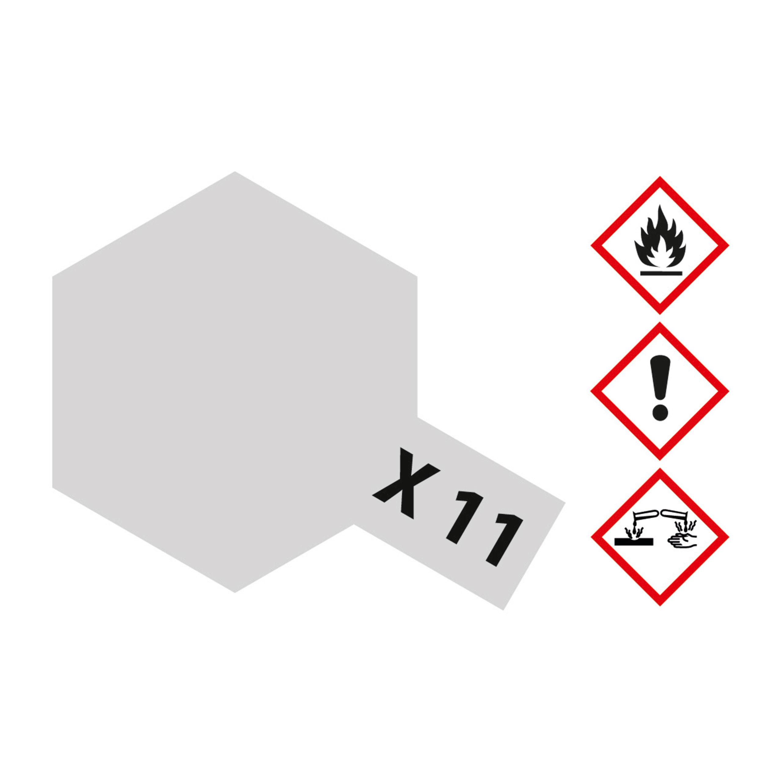 X-11 Chrom Silber glaenzend - 23ml Acrylstreichfarbe wasserlöslich Tamiya 300081011