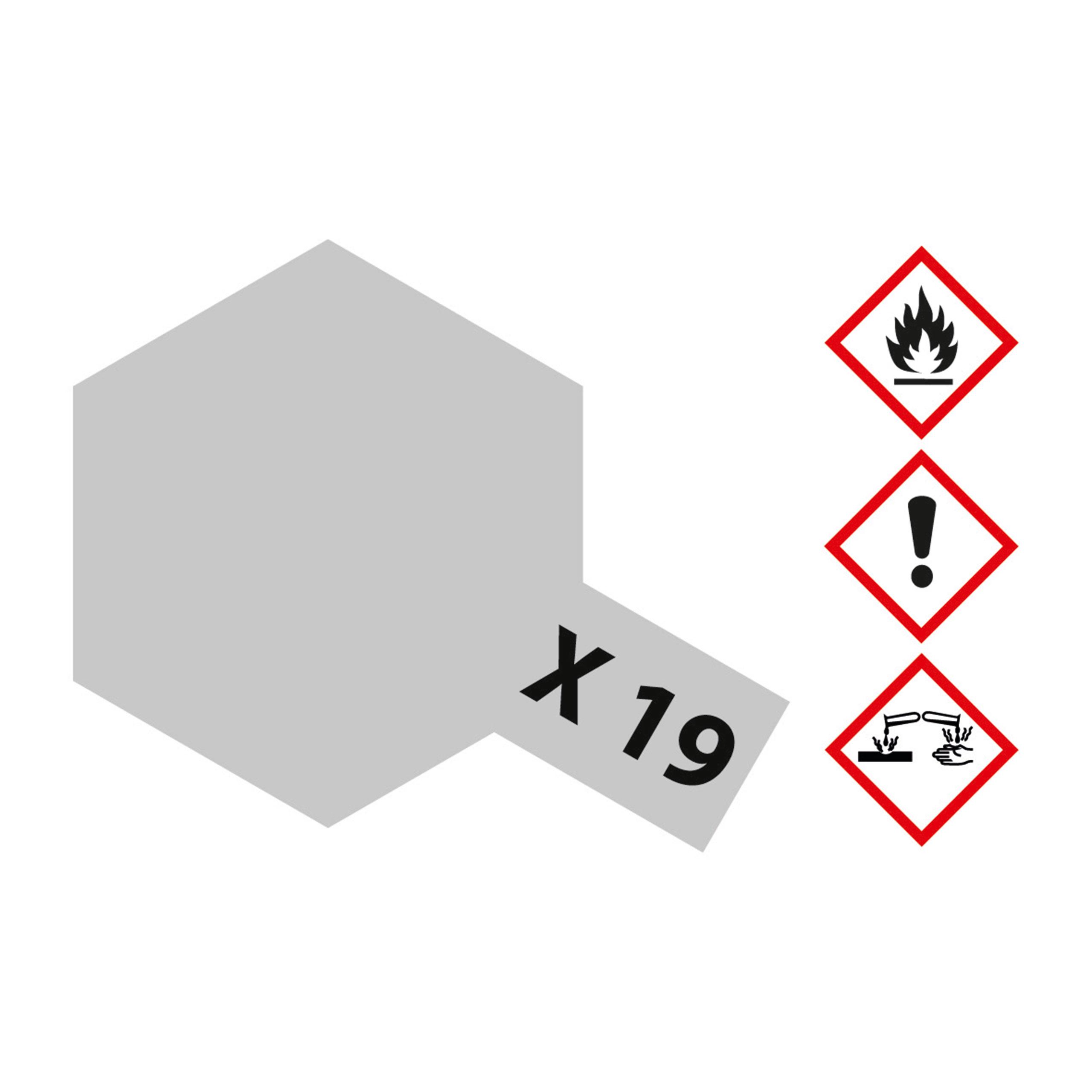 X-19 Rauch seidenmatt - 23ml Acrylstreichfarbe wasserlöslich Tamiya 300081019
