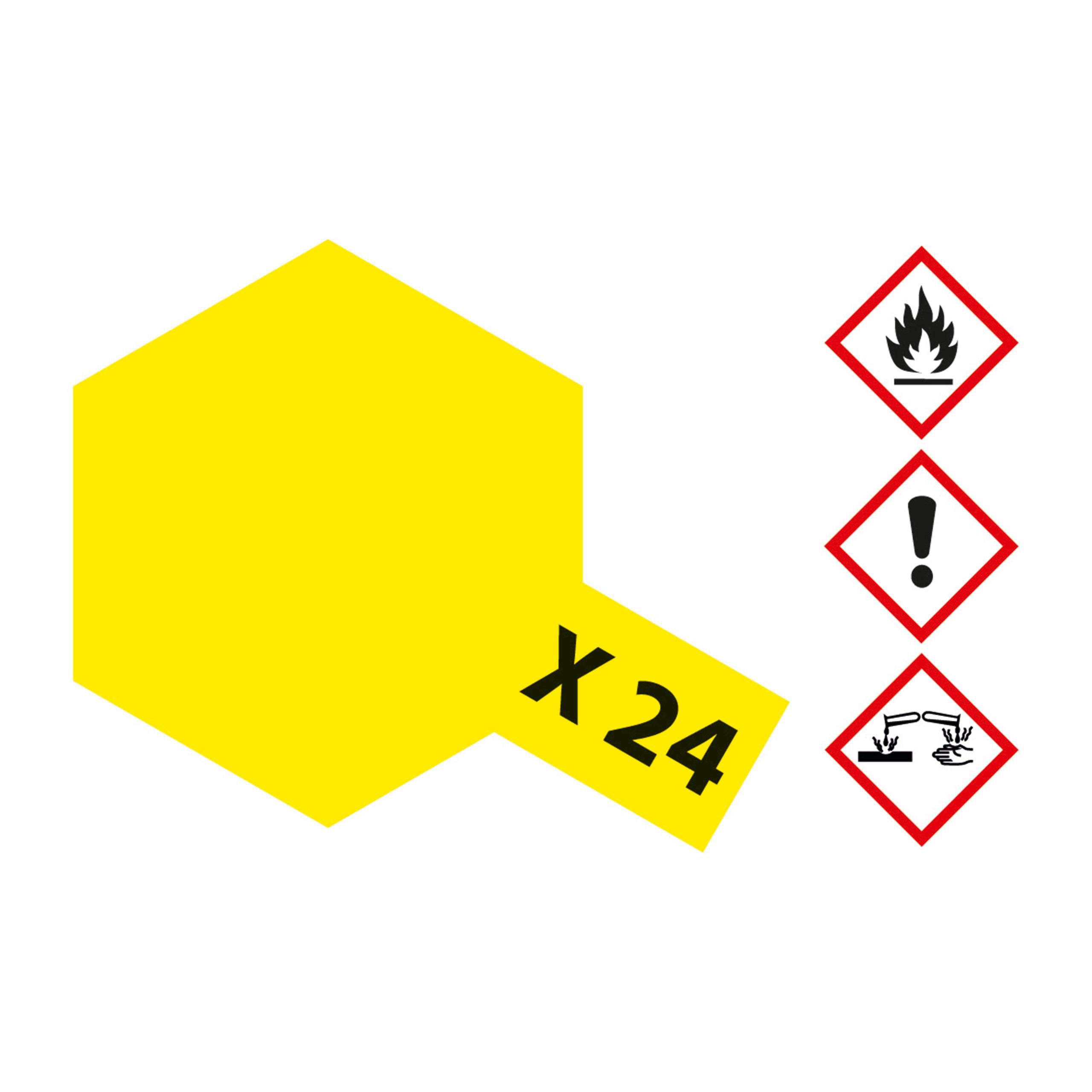 X-24 Klar Gelb glaenzend - 23ml Acrylstreichfarbe wasserlöslich Tamiya 300081024