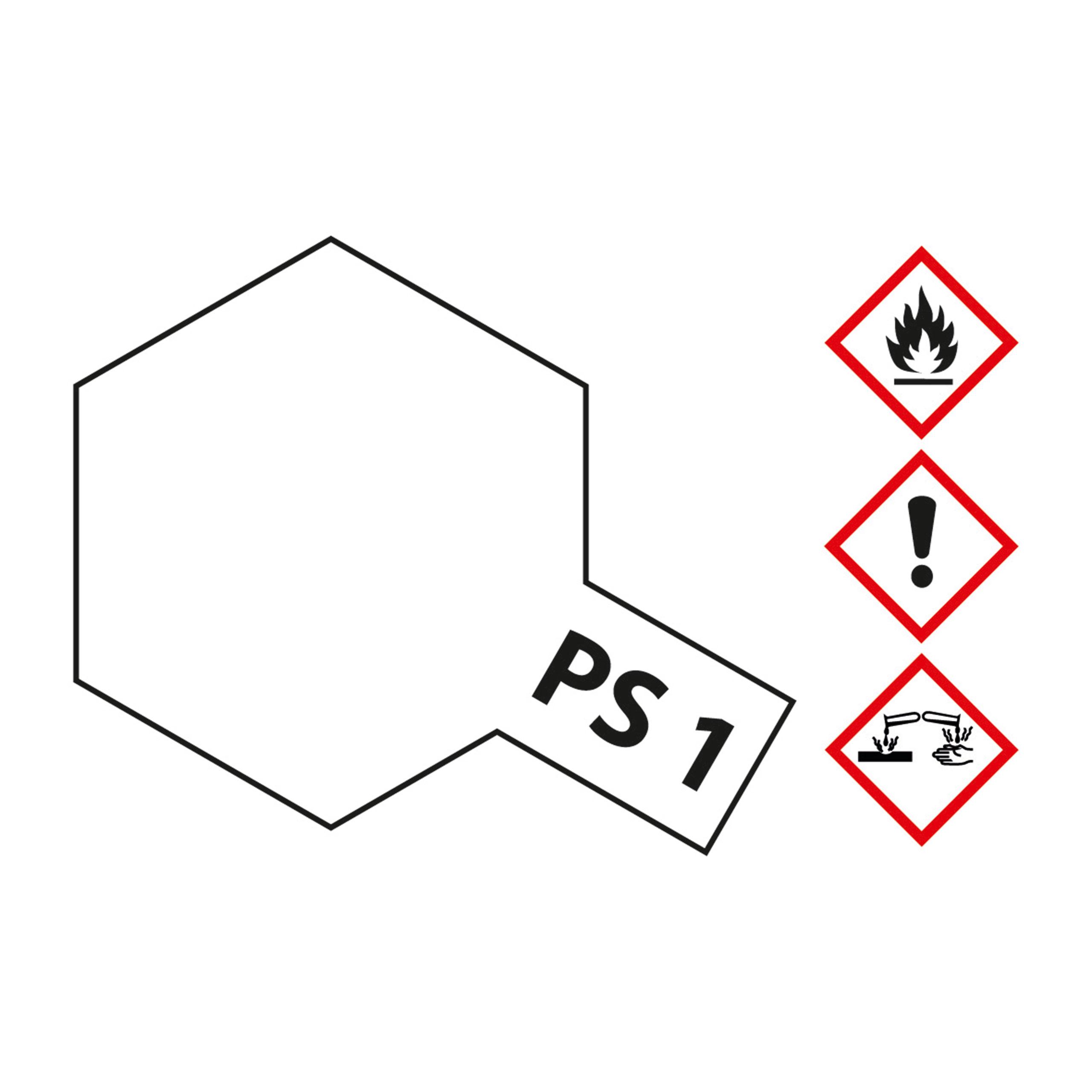 PS-1 Weiss Polycarbonat - 100ml Sprayfarbe Lexan - Tamiya 300086001
