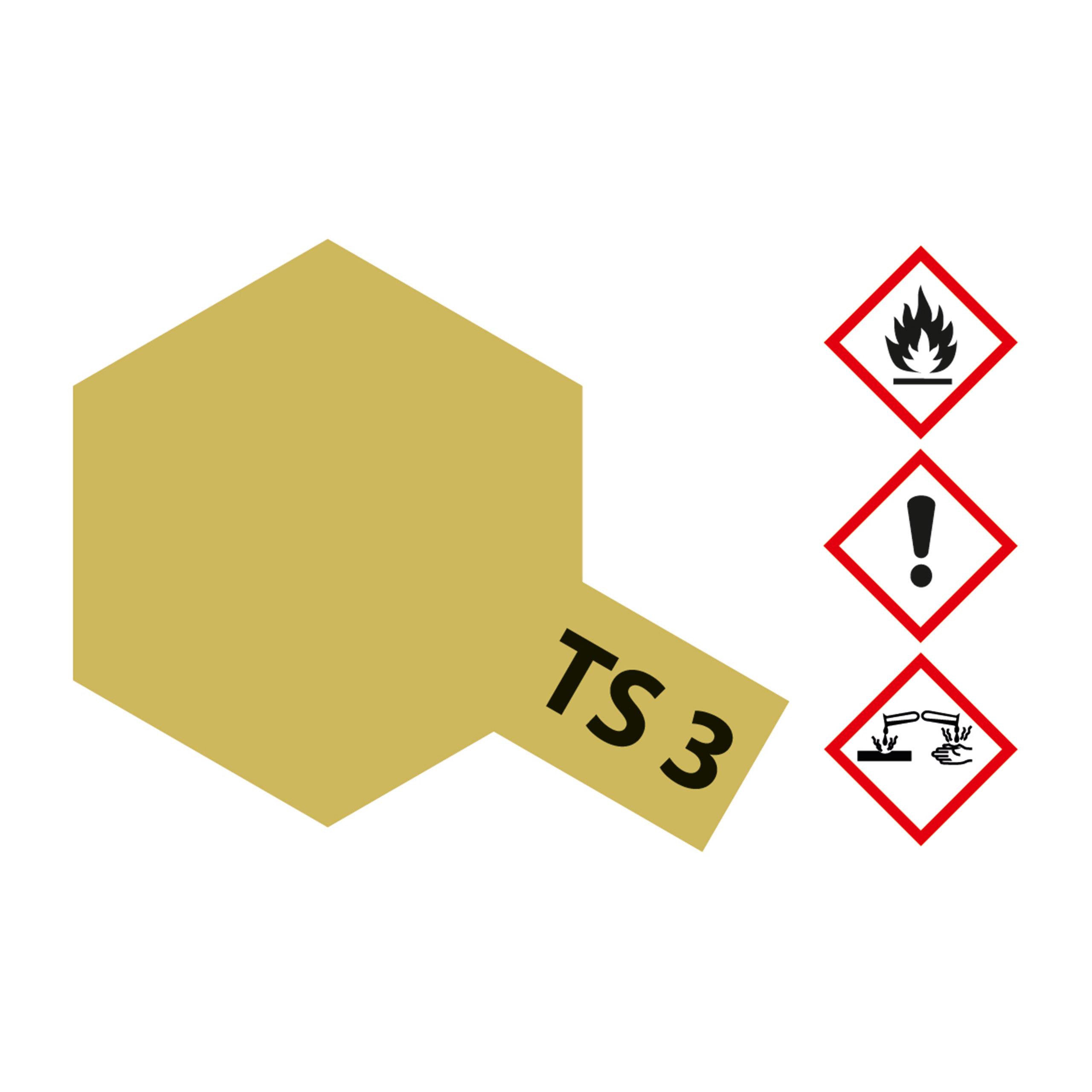 TS-3 Dunkelgelb matt - 100ml Sprayfarbe Kunstharz Tamiya 300085003