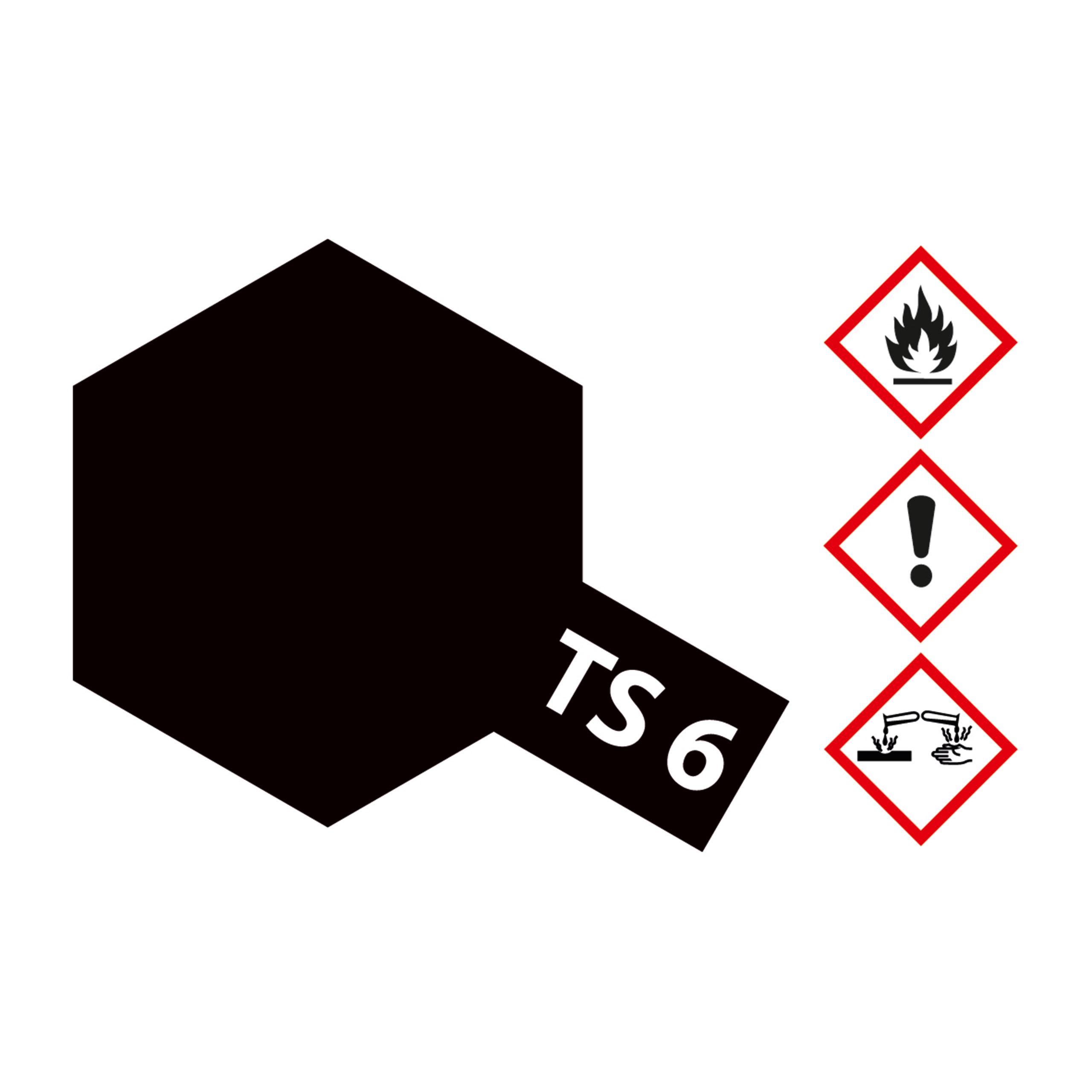 TS-6 Schwarz matt - 100ml Sprayfarbe Kunstharz Tamiya 300085006