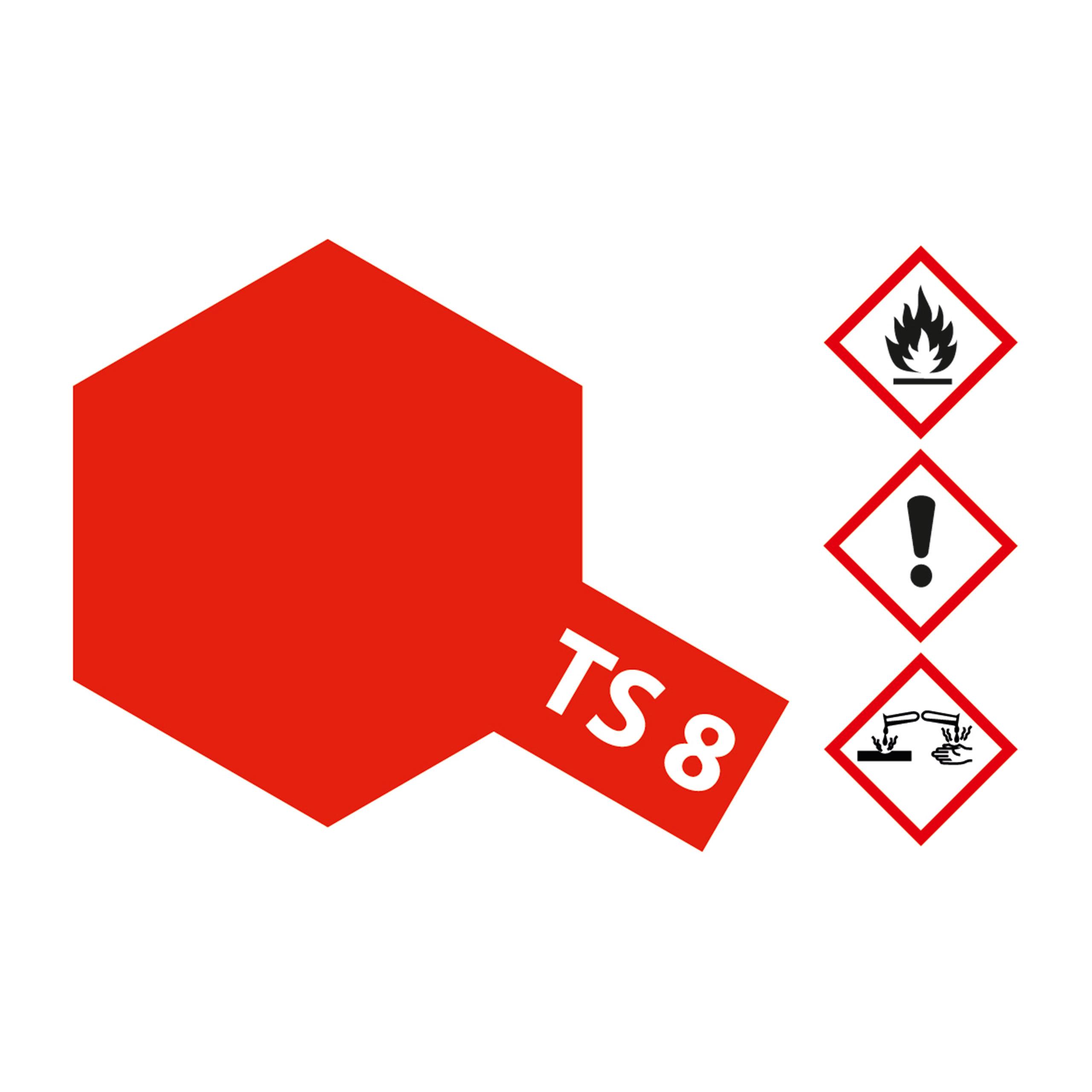 TS-8 Italienisch Rot glaenzend - 100ml Sprayfarbe Kunstharz Tamiya 300085008