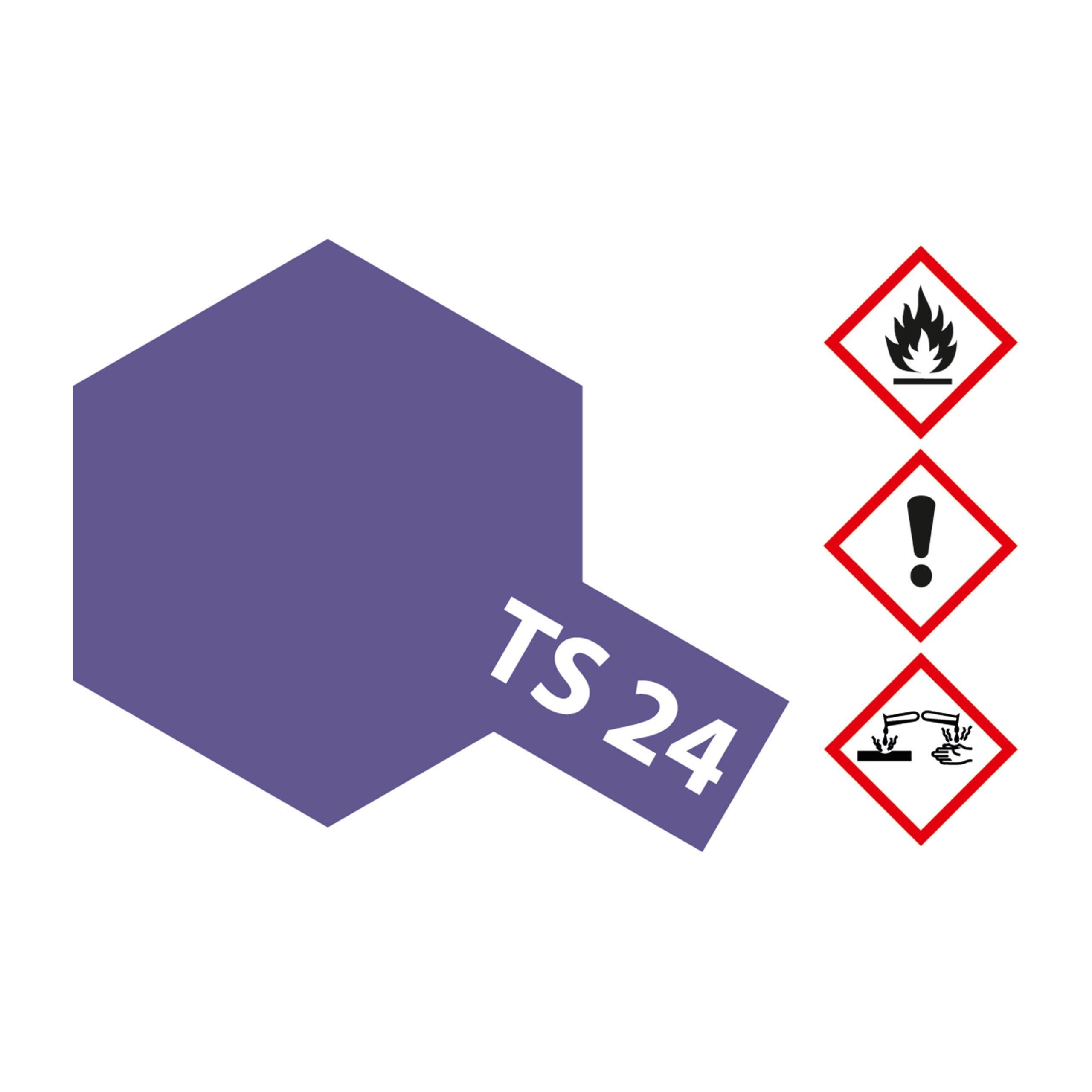 TS-24 Violett glaenzend - 100ml Sprayfarbe Kunstharz Tamiya 300085024