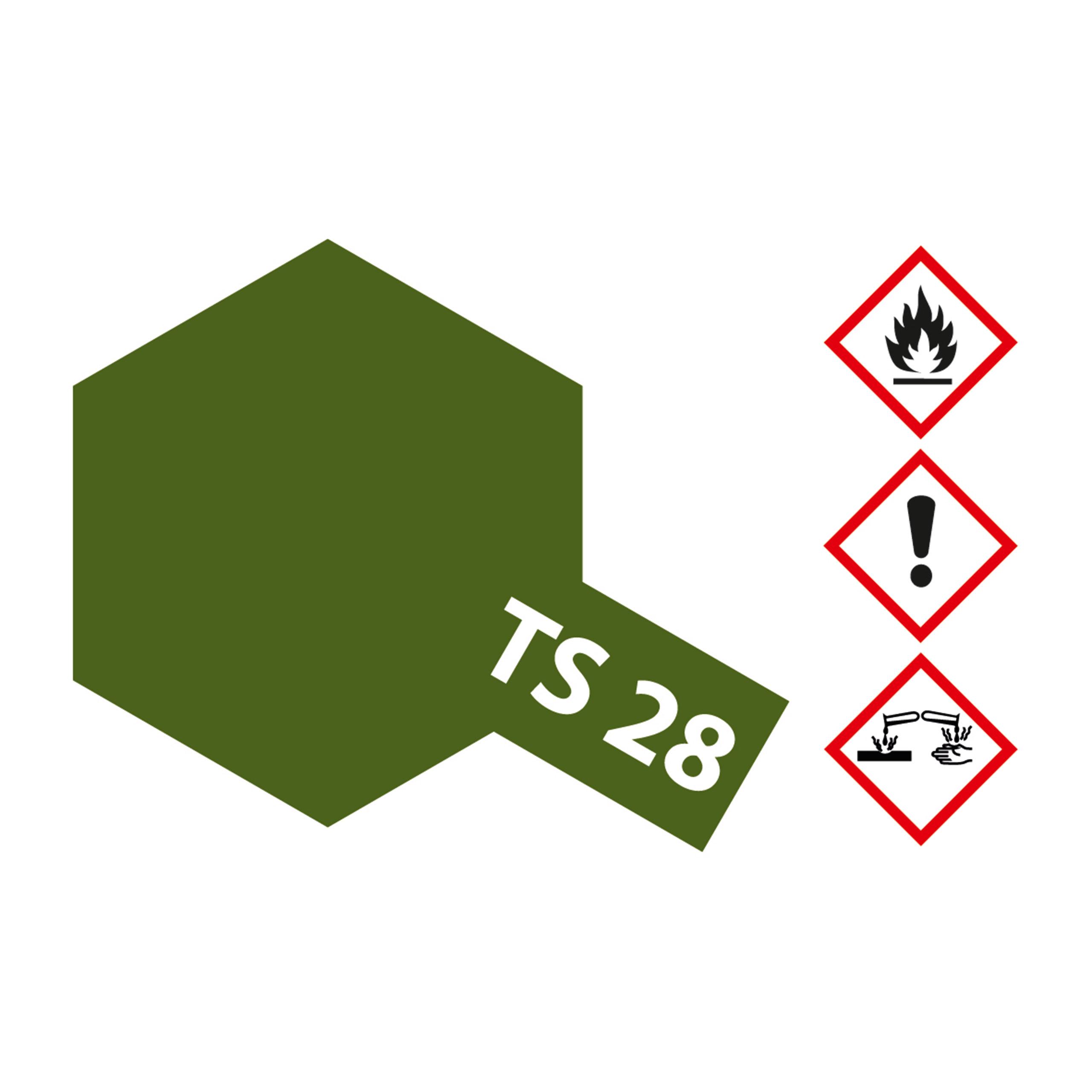TS-28 Braunoliv2 (Oliv.Drab2) matt - 100ml Sprayfarbe Kunstharz Tamiya 300085028