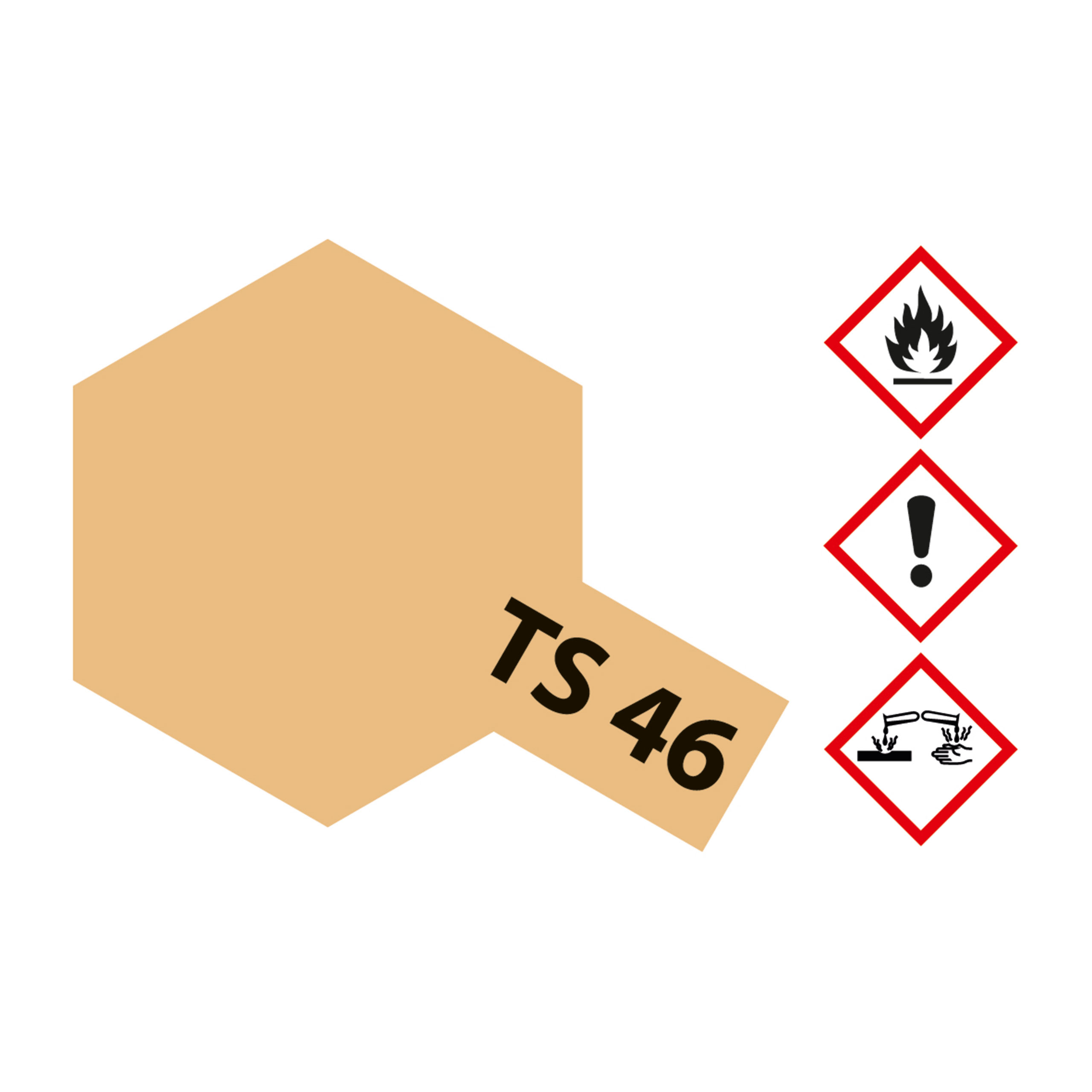 TS-46 Sand Hell matt - 100ml Sprayfarbe Kunstharz Tamiya 300085046