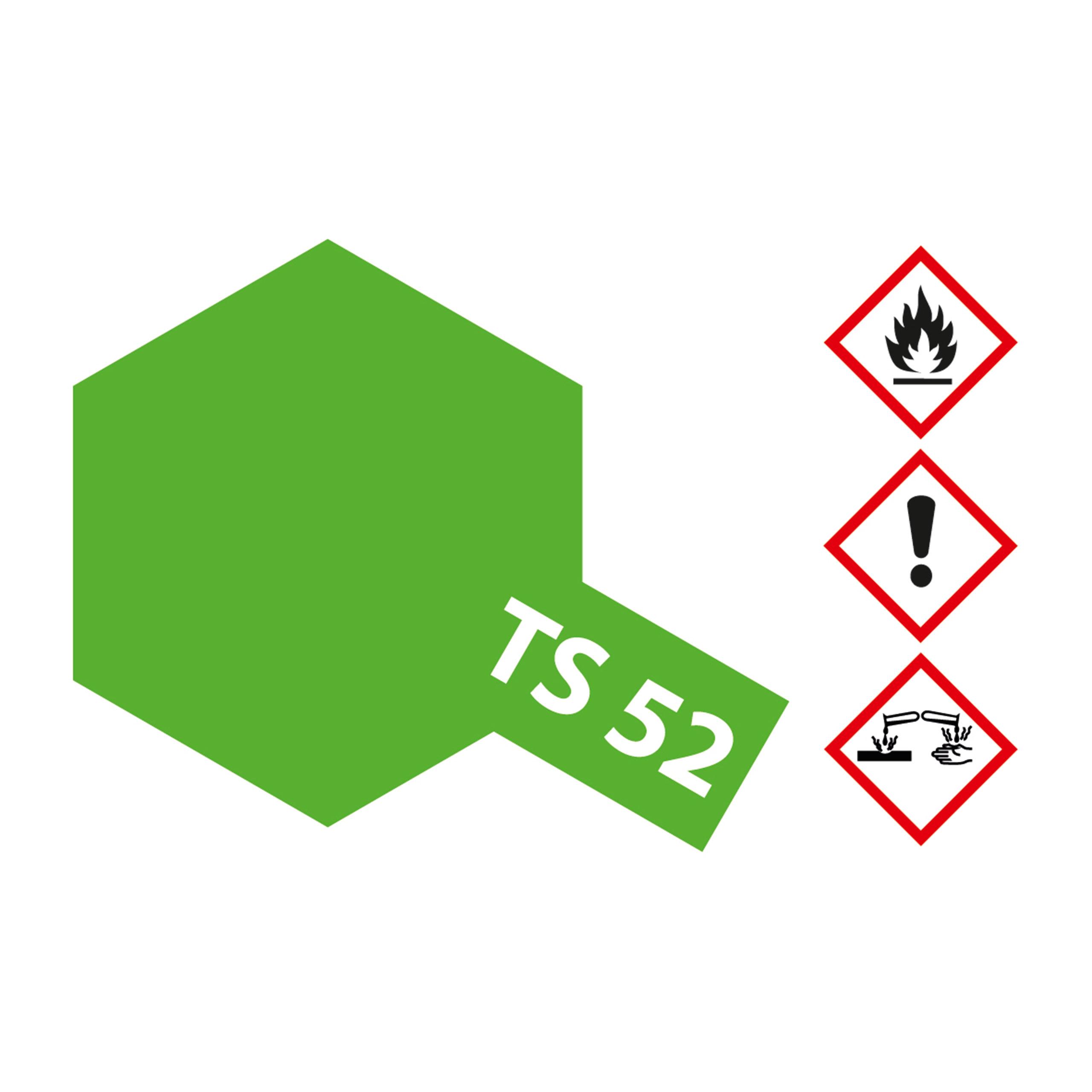 TS-52 Bonbon-Limet Grün(Candy) gl. - 100ml Sprayfarbe Kunstharz Tamiya 300085052