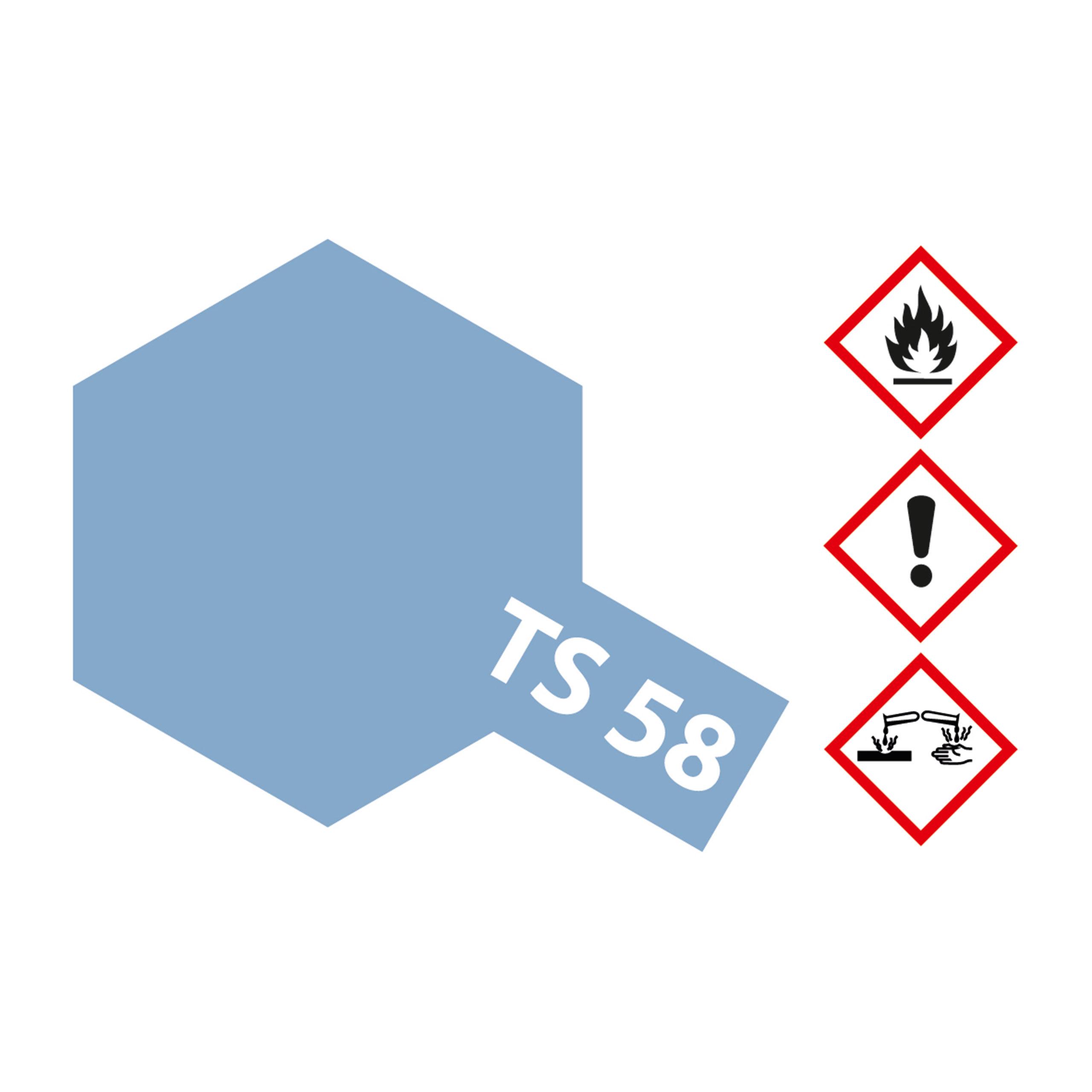 TS-58 Hellblau Perleffekt glaenzend - 100ml Sprayfarbe Kunstharz Tamiya 300085058
