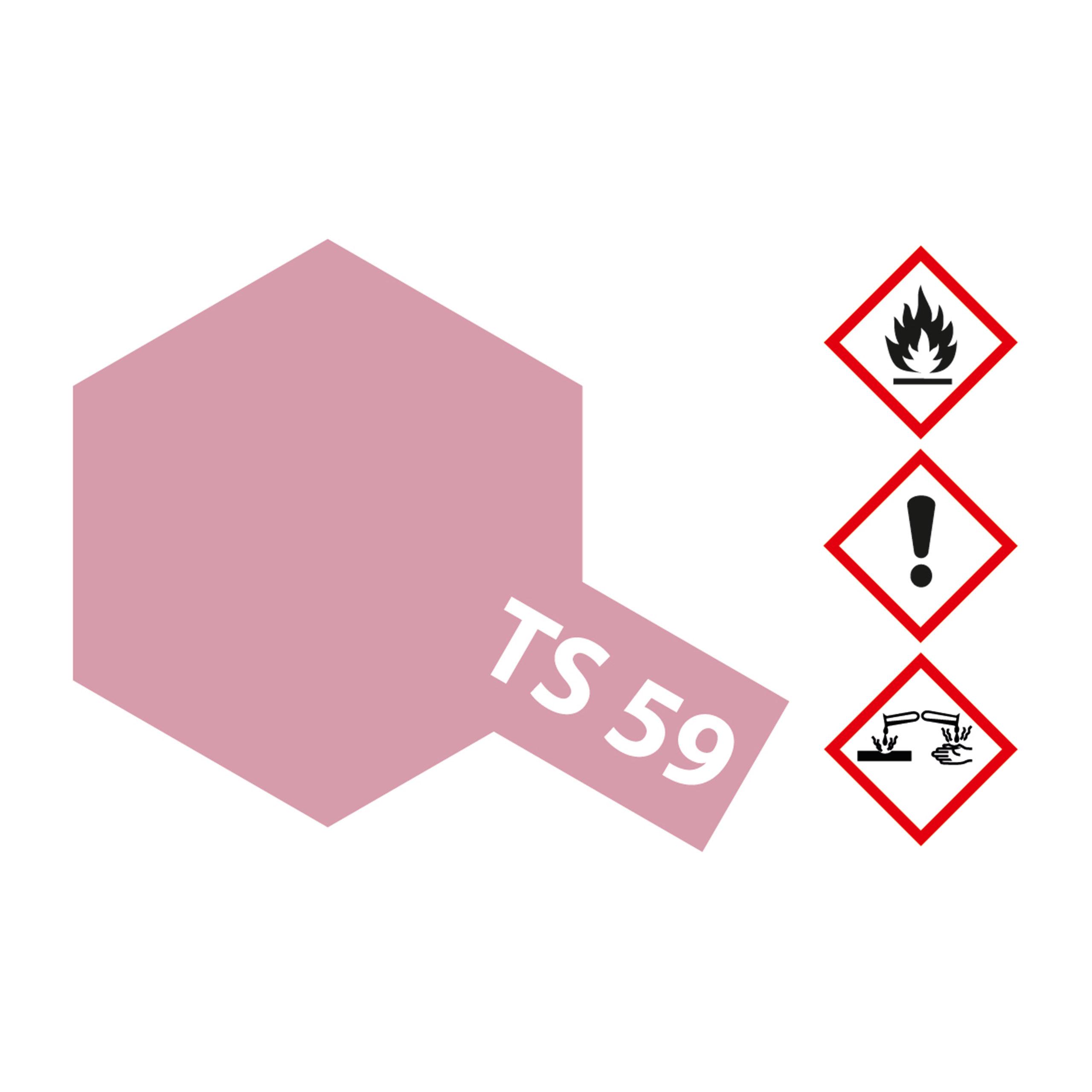 TS-59 Hellrot Perleffekt glaenzend - 100ml Sprayfarbe Kunstharz Tamiya 300085059
