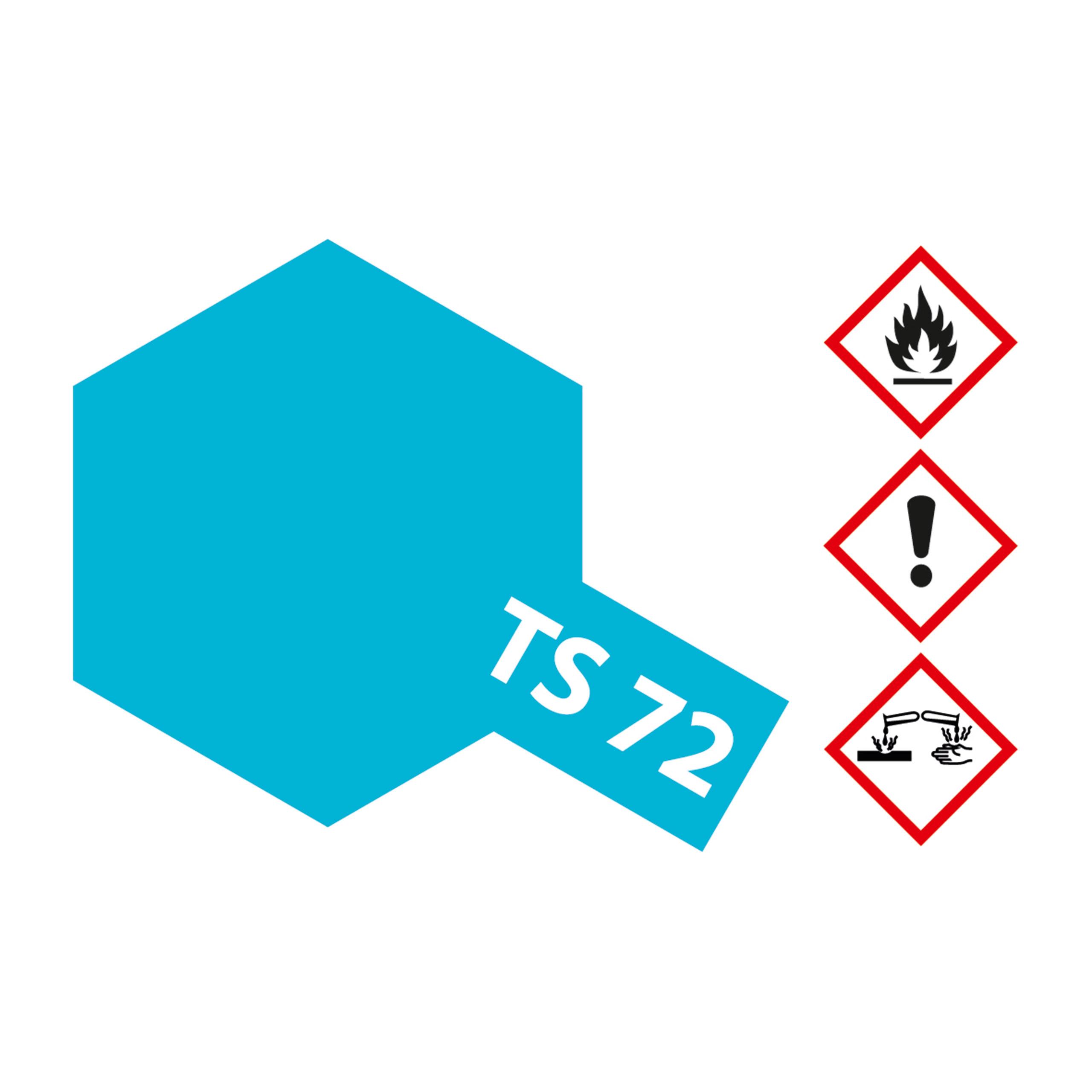 TS-72 Blau Transpar. Klar glaenz. - 100ml Sprayfarbe Kunstharz Tamiya 300085072