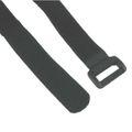 Klettband 10 Stück a 500mm Klettschlaufen Klettverschluss schwarz 59945I
