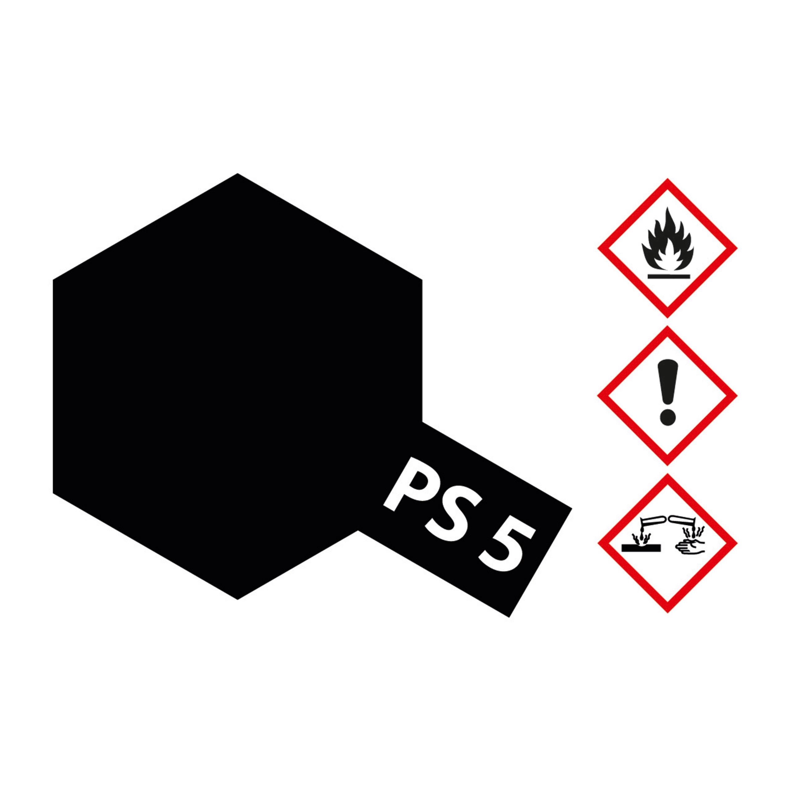 PS-5 Schwarz Polycarbonat - 100ml Sprayfarbe Lexan - Tamiya 300086005
