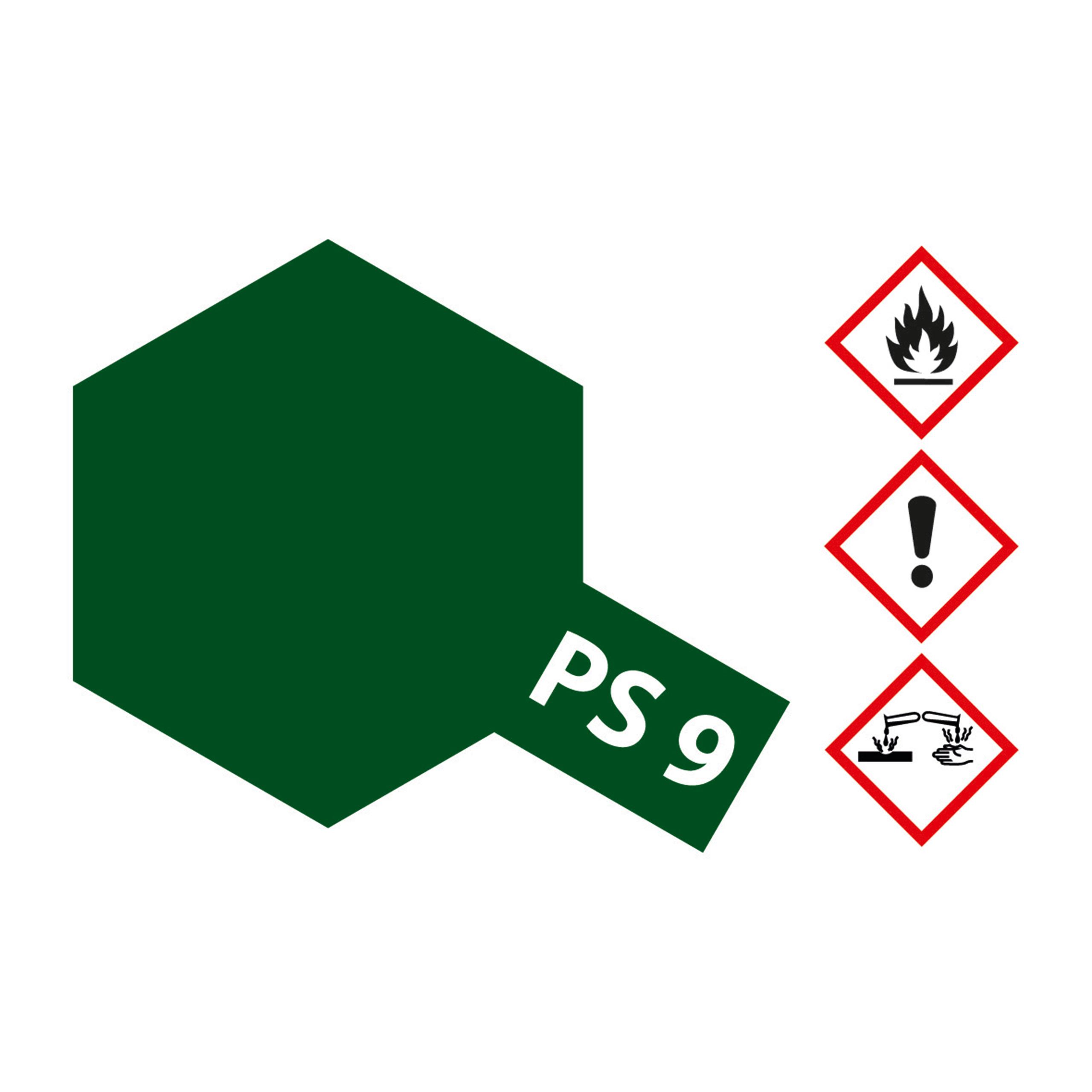PS-9 Gruen Polycarbonat - 100ml Sprayfarbe Lexan - Tamiya 300086009