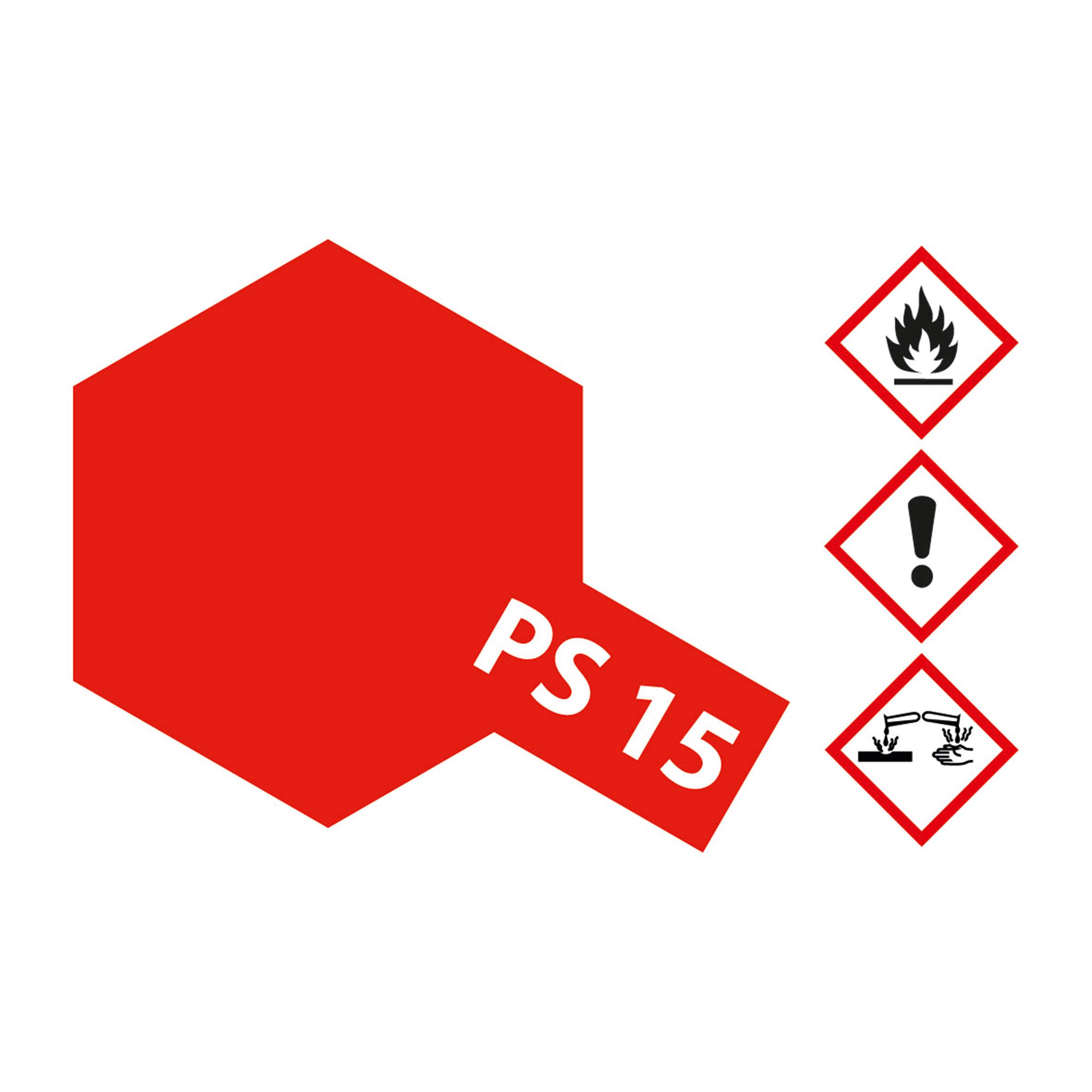 PS-15 Metallic Rot Polycarbonat - 100ml Sprayfarbe Lexan - Tamiya 300086015