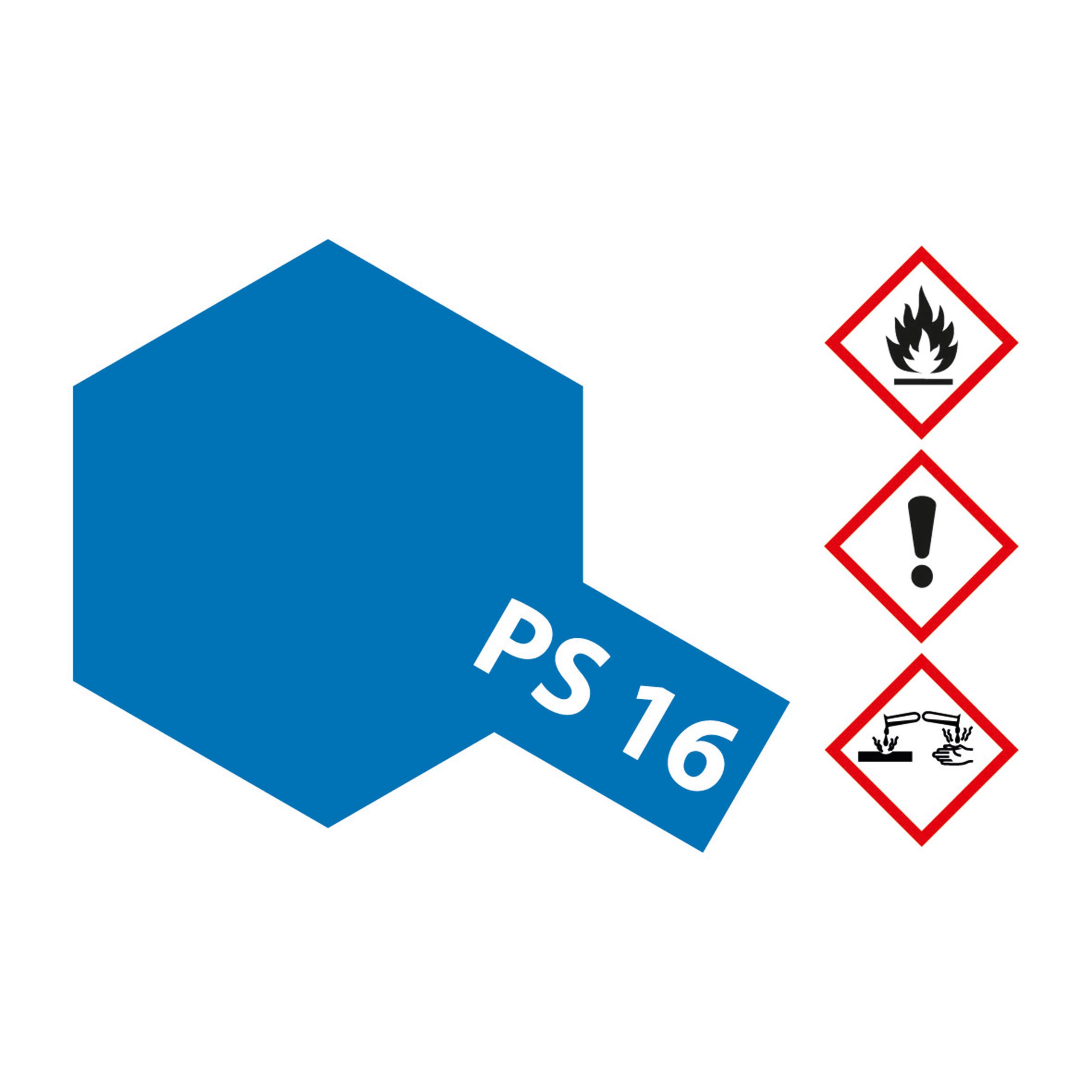 PS-16 Metallic Blau Polycarbonat - 100ml Sprayfarbe Lexan - Tamiya 300086016