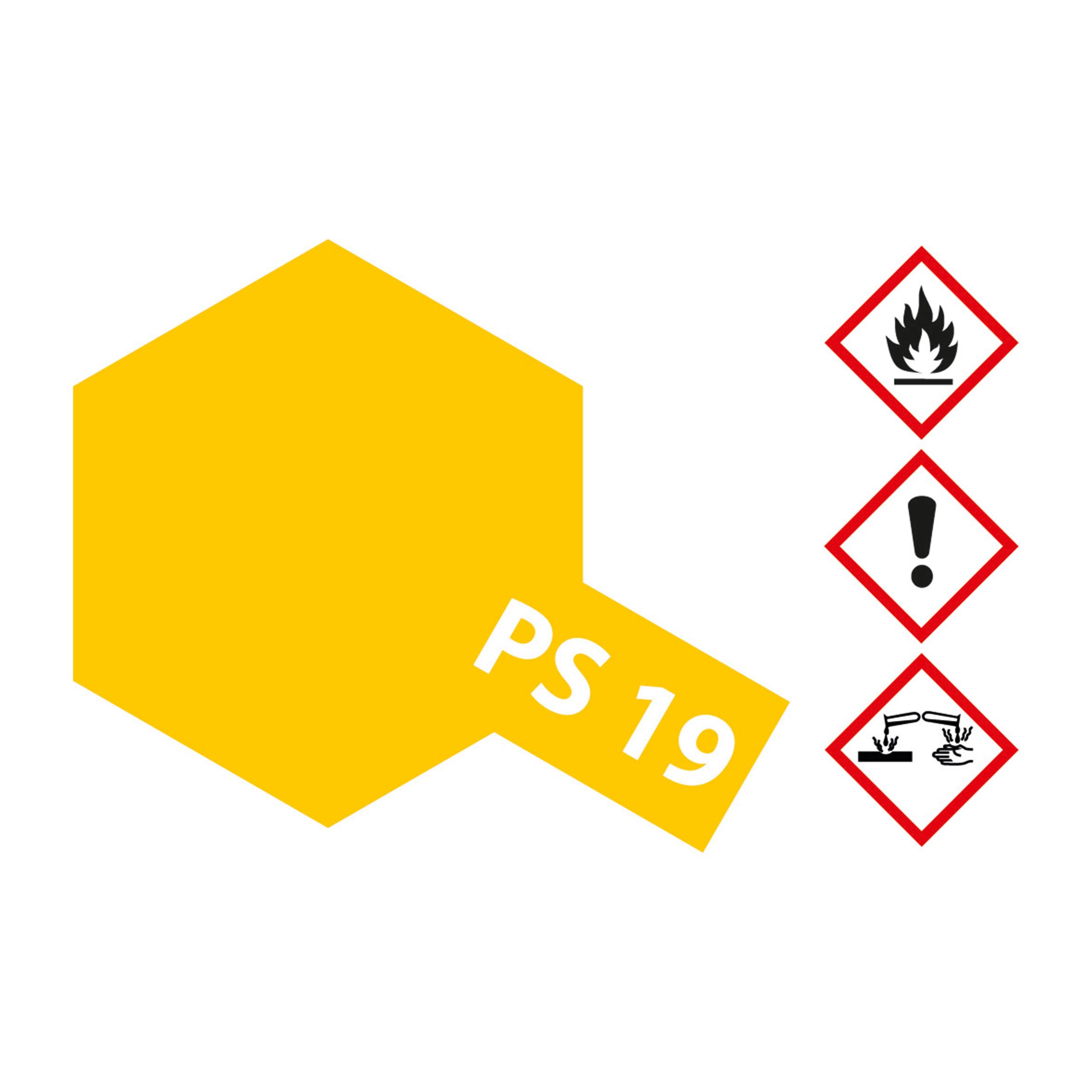 PS-19 Camelgelb Polycarbonat - 100ml Sprayfarbe Lexan - Tamiya 300086019