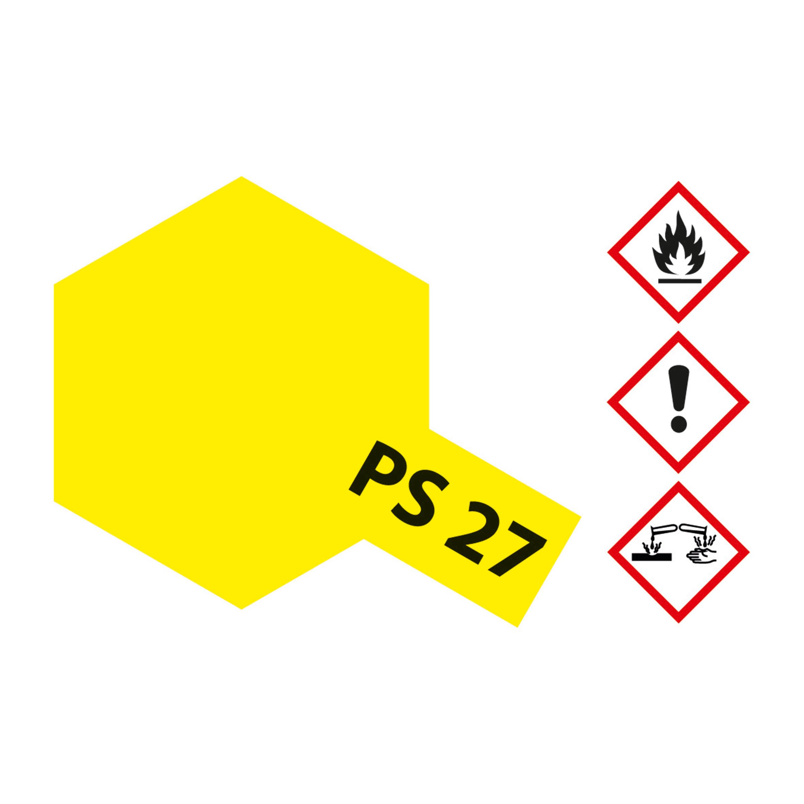 PS-27 Neon Gelb Polycarbonat - 100ml Sprayfarbe Lexan - Tamiya 300086027