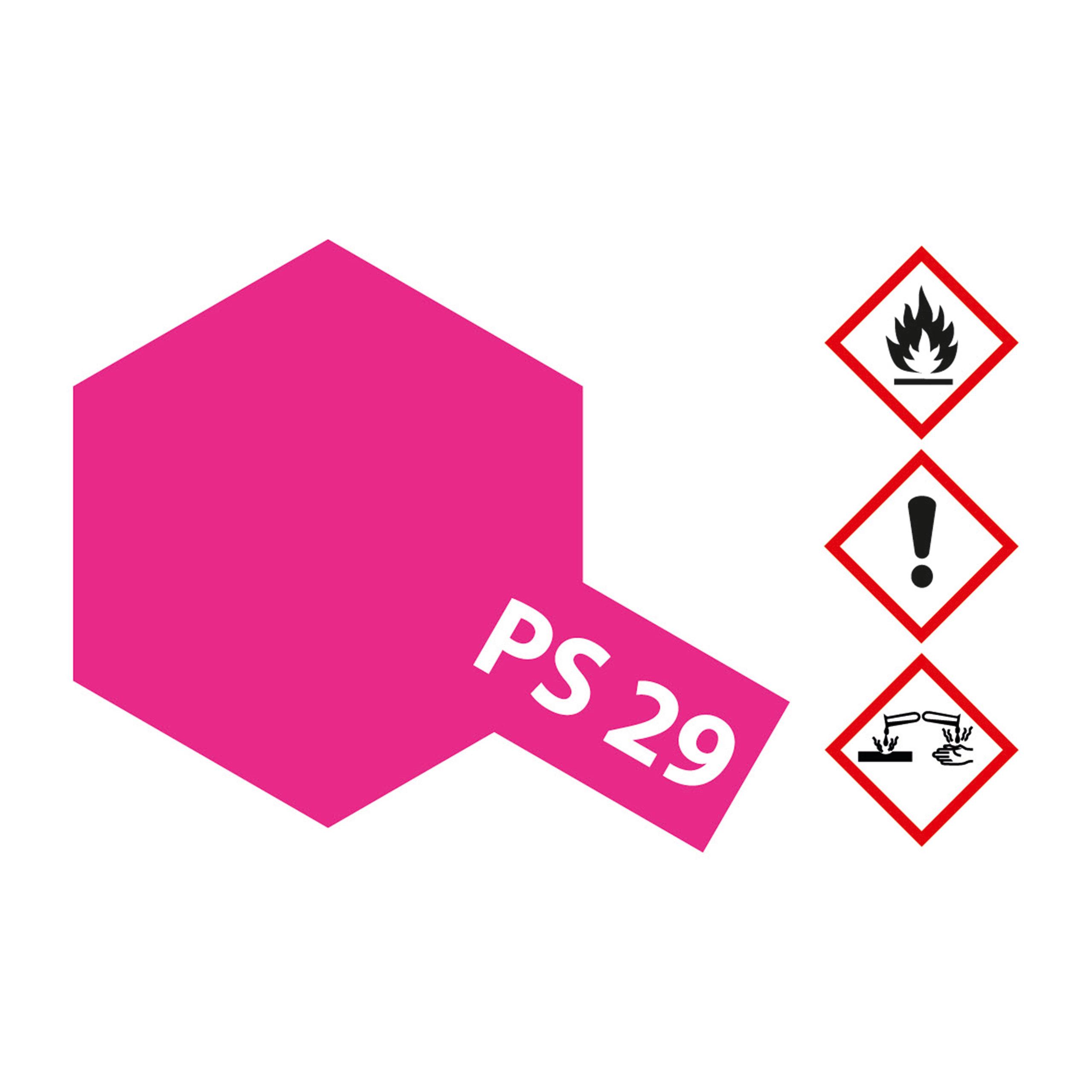 PS-29 Neon Rosarot Polycarb. - 100ml Sprayfarbe Lexan - Tamiya 300086029