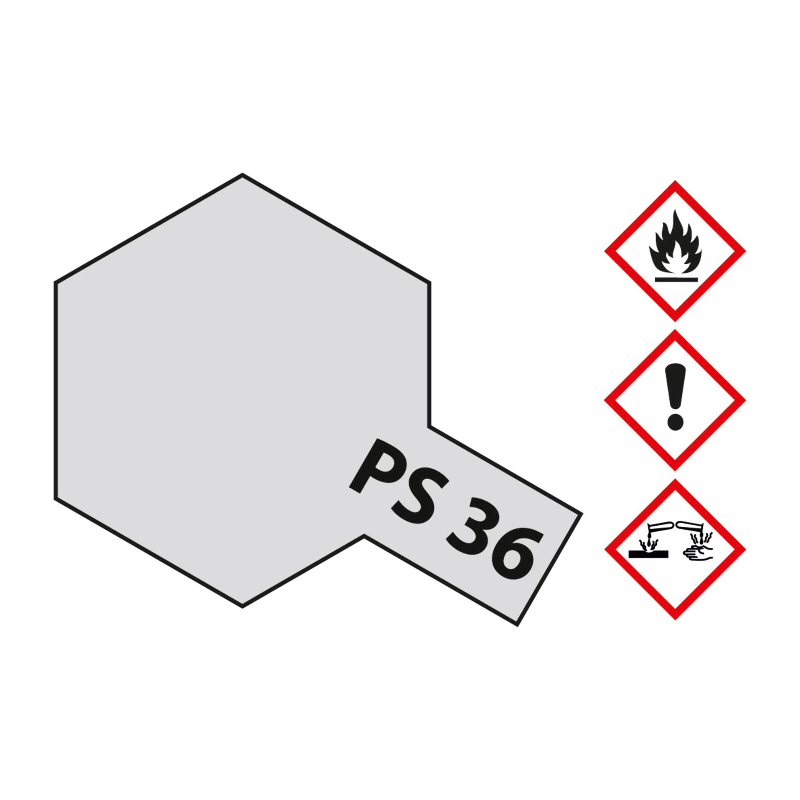 PS-36 Translucent Silber Polyc. - 100ml Sprayfarbe Lexan - Tamiya 300086036