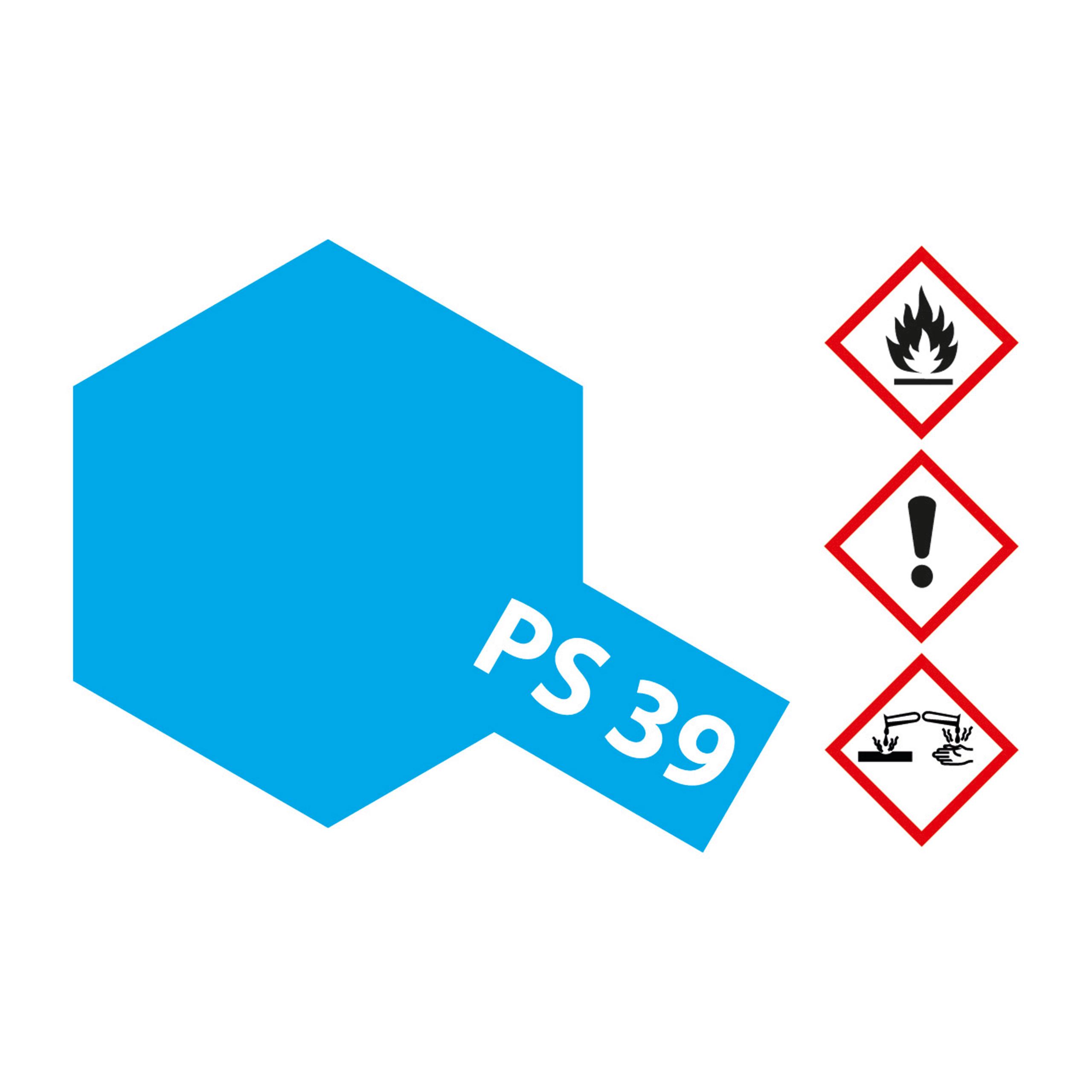 PS-39 Translucent Hellblau Polyc. - 100ml Sprayfarbe Lexan - Tamiya 300086039