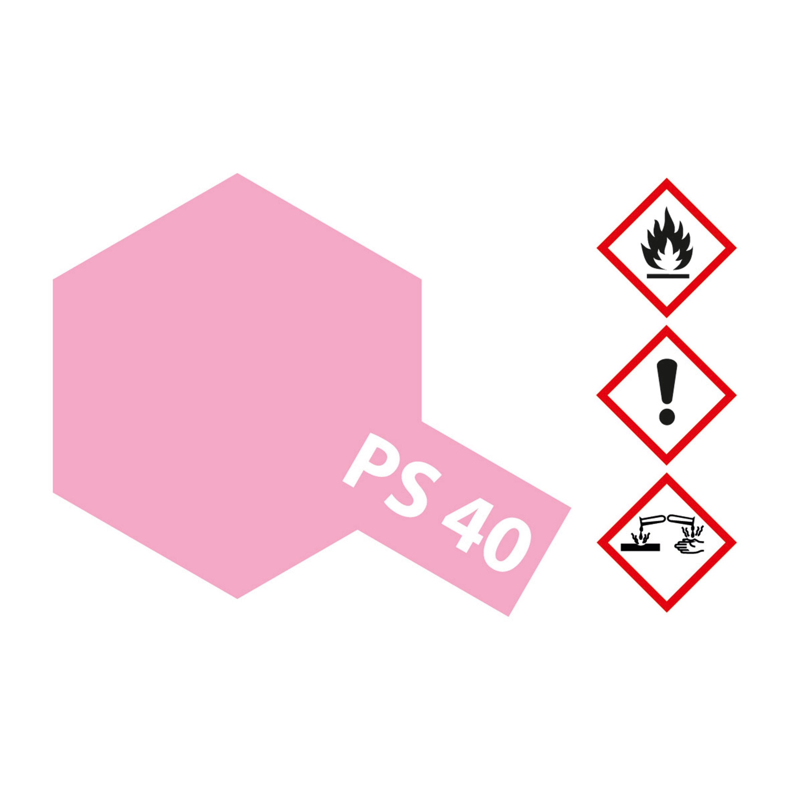 PS-40 Translucent Rosarot Polyc. - 100ml Sprayfarbe Lexan - Tamiya 300086040
