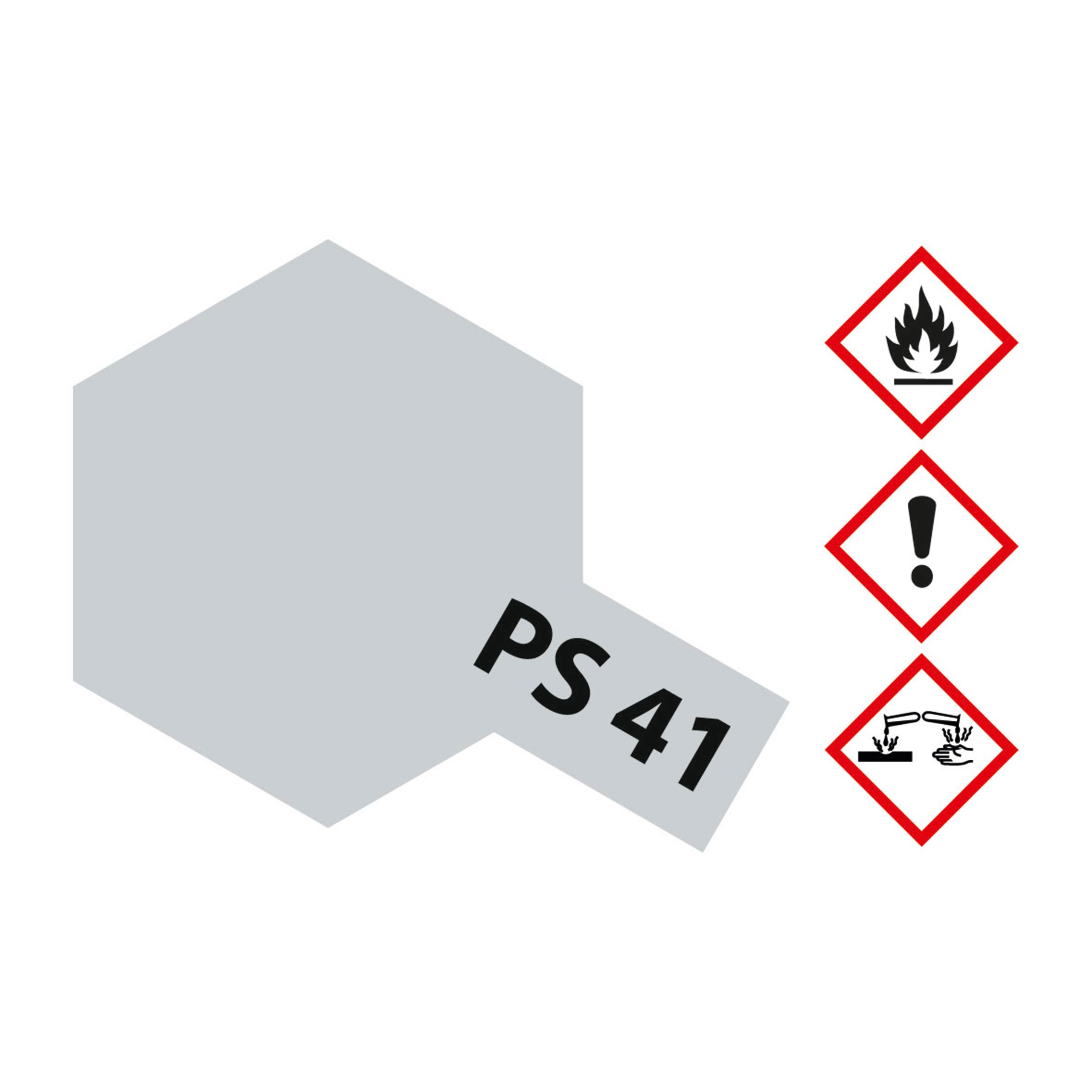 PS-41 Hellsilber Polycarbonat - 100ml Sprayfarbe Lexan - Tamiya 300086041