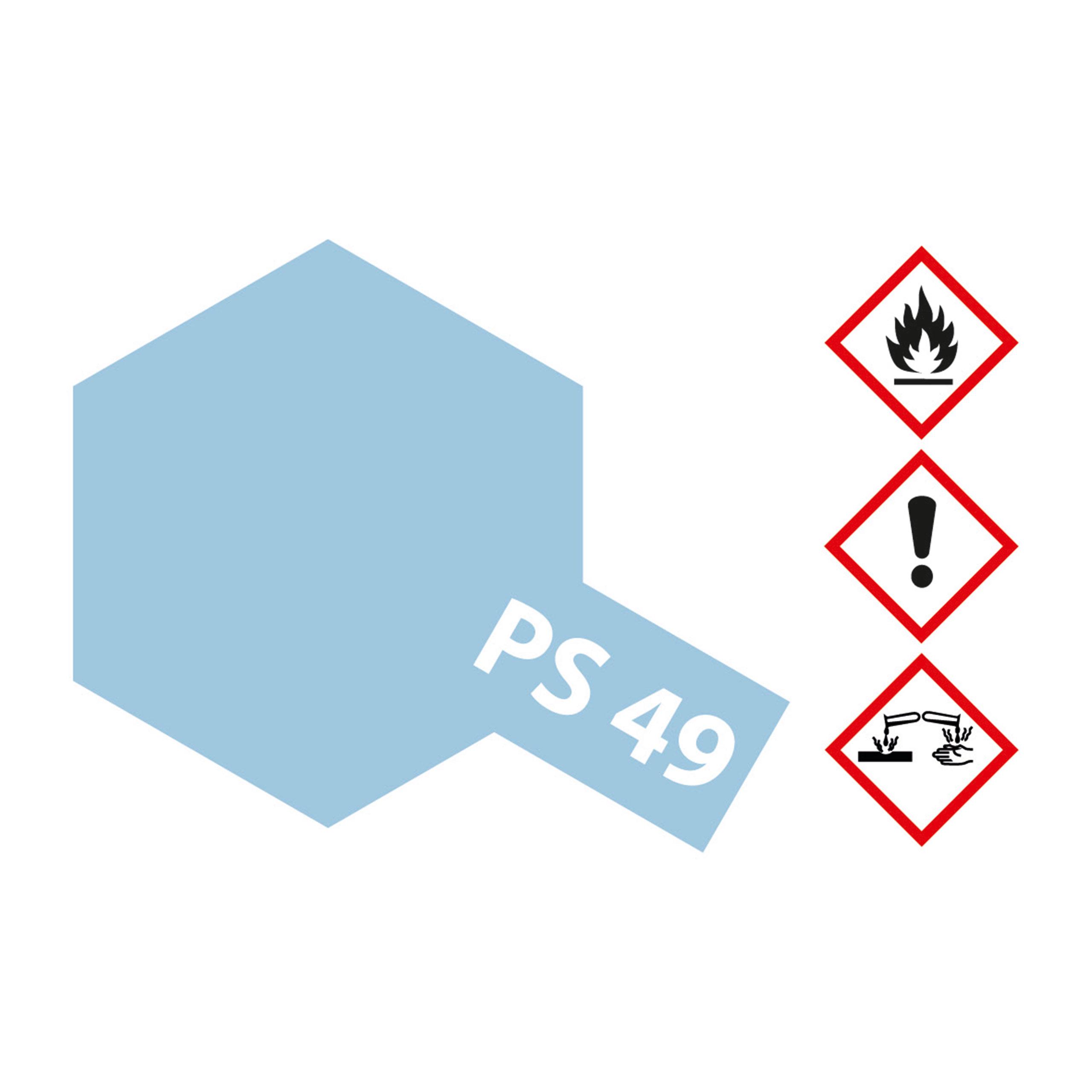 PS-49 Alu-Effektblau Polyc. - 100ml Sprayfarbe Lexan - Tamiya 300086049