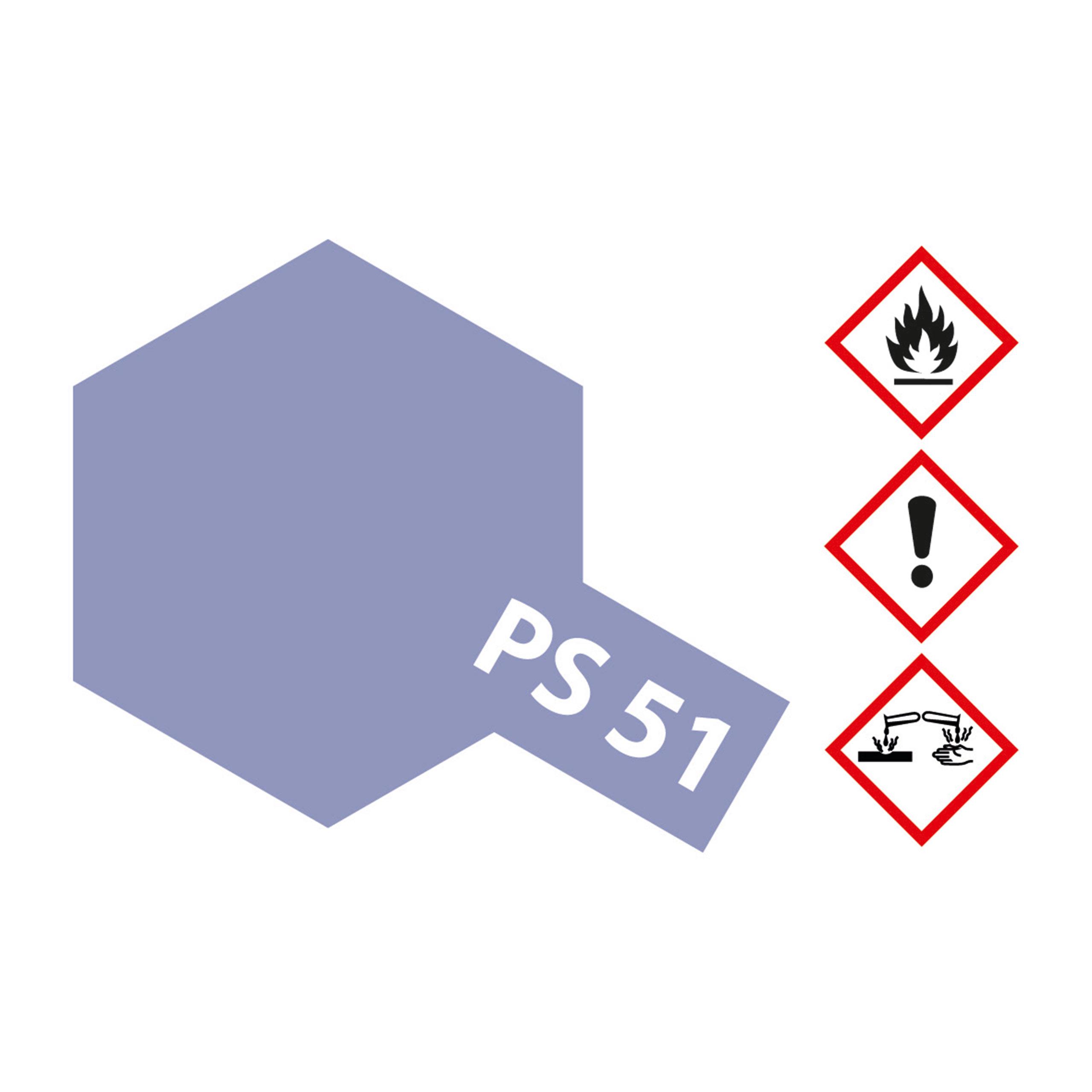 PS-51 Violett eloxiert Polycarb. - 100ml Sprayfarbe Lexan - Tamiya 300086051